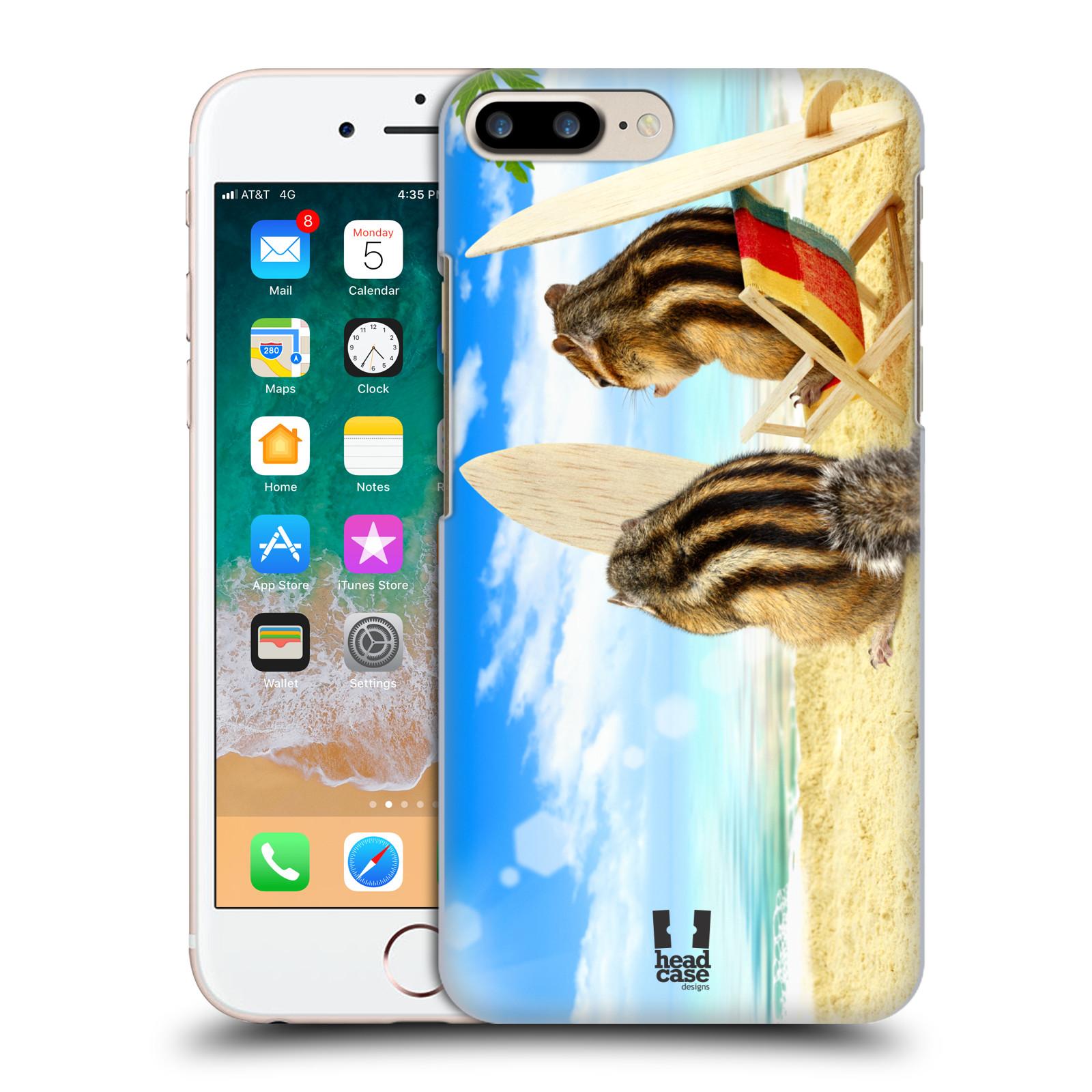 HEAD CASE plastový obal na mobil Apple Iphone 7 PLUS vzor Legrační zvířátka veverky surfaři u moře