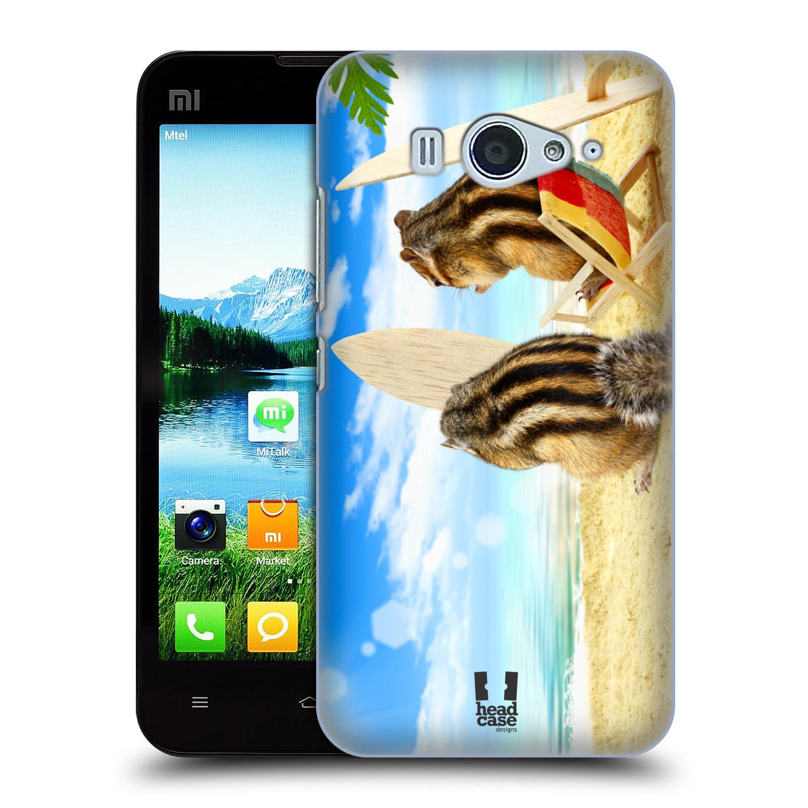 HEAD CASE pevný plastový obal na mobil XIAOMI MI2s vzor Legrační zvířátka veverky surfaři u moře
