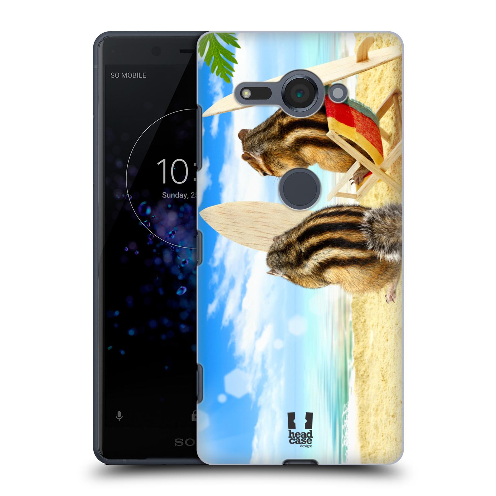 HEAD CASE plastový obal na mobil Sony Xperia XZ2 COMPACT vzor Legrační zvířátka veverky surfaři u moře