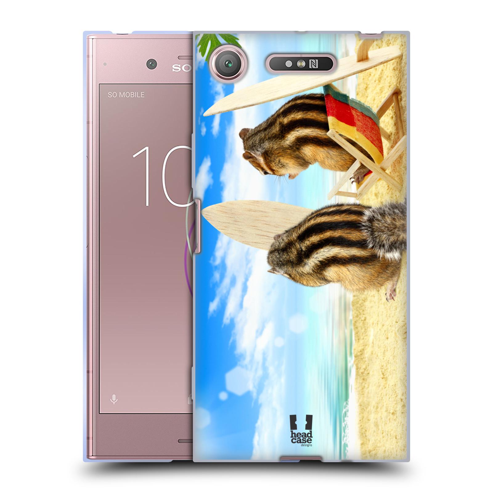 HEAD CASE silikonový obal na mobil Sony Xperia XZ1 vzor Legrační zvířátka veverky surfaři u moře