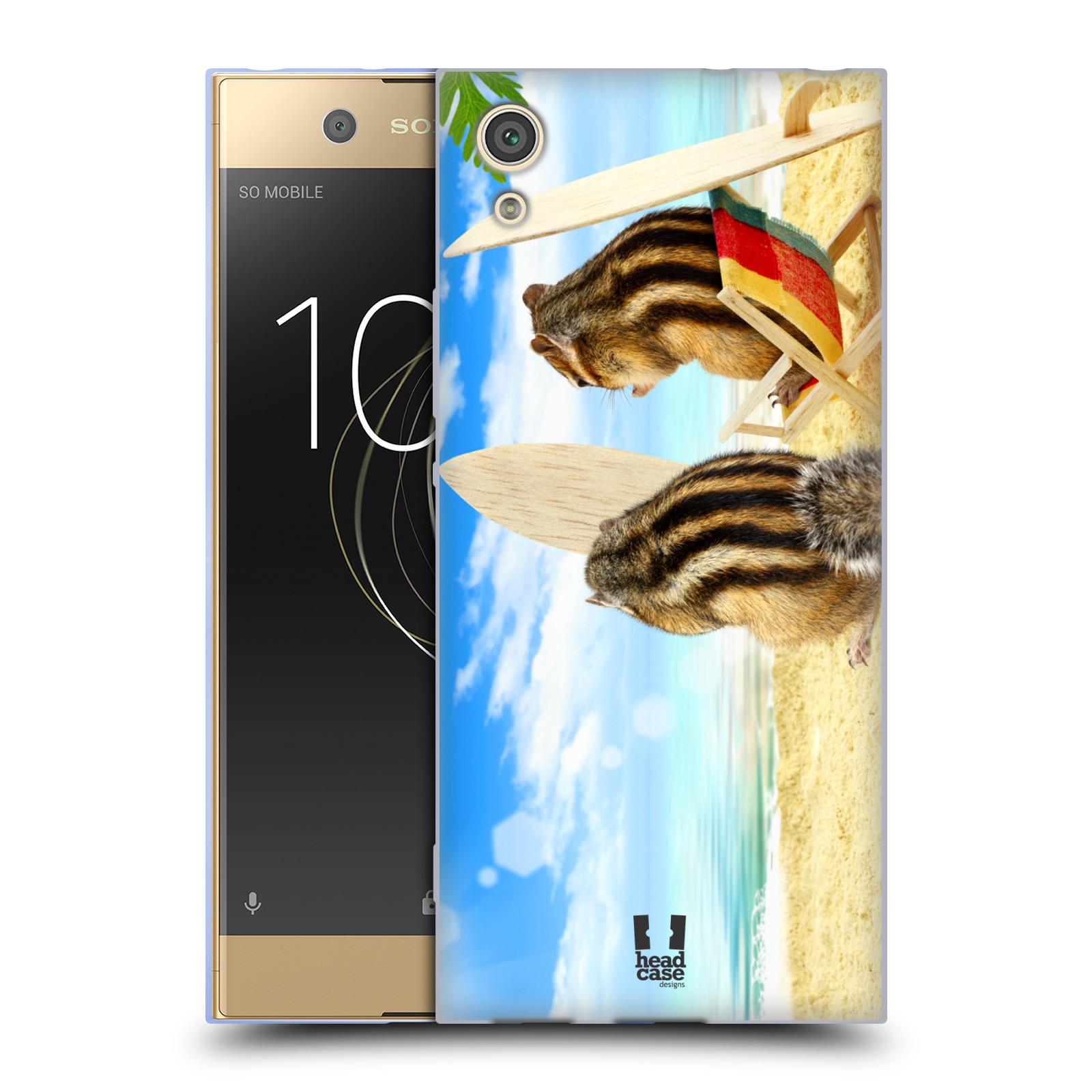 HEAD CASE silikonový obal na mobil Sony Xperia XA1 / XA1 DUAL SIM vzor Legrační zvířátka veverky surfaři u moře