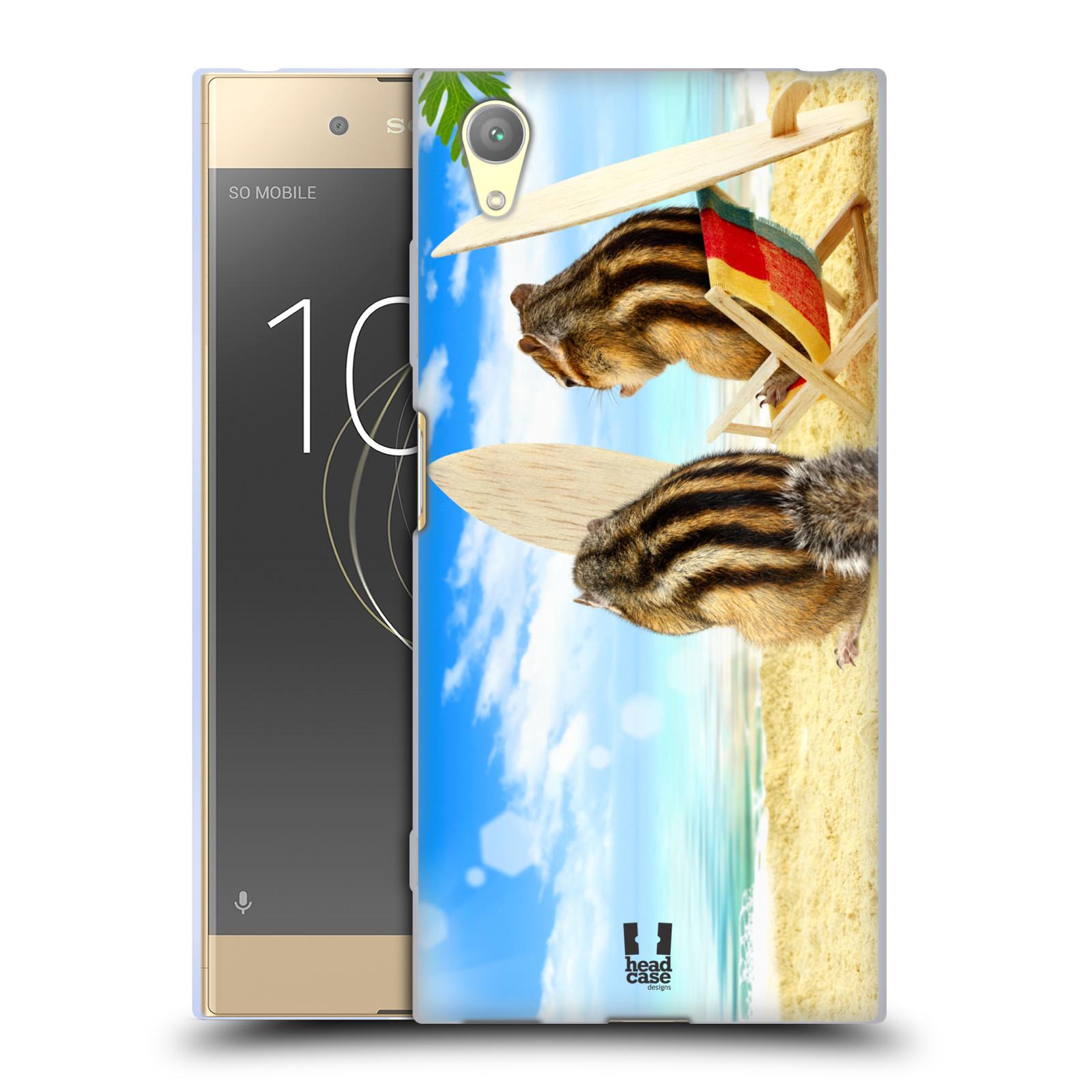 HEAD CASE silikonový obal na mobil Sony Xperia XA1 PLUS vzor Legrační zvířátka veverky surfaři u moře