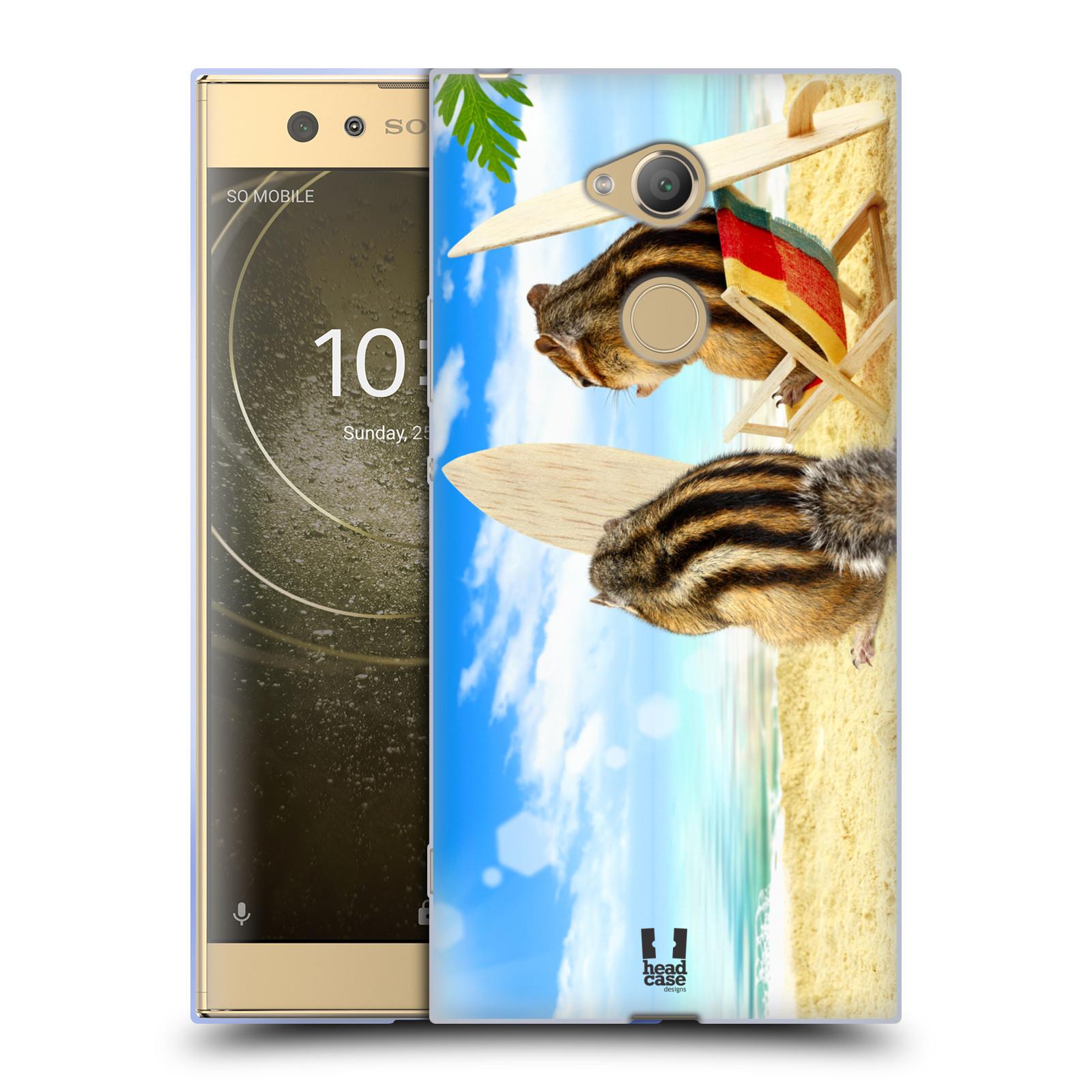 Pouzdro na mobil Sony Xperia XA2 Ultra vzor Legrační zvířátka veverky surfaři u moře