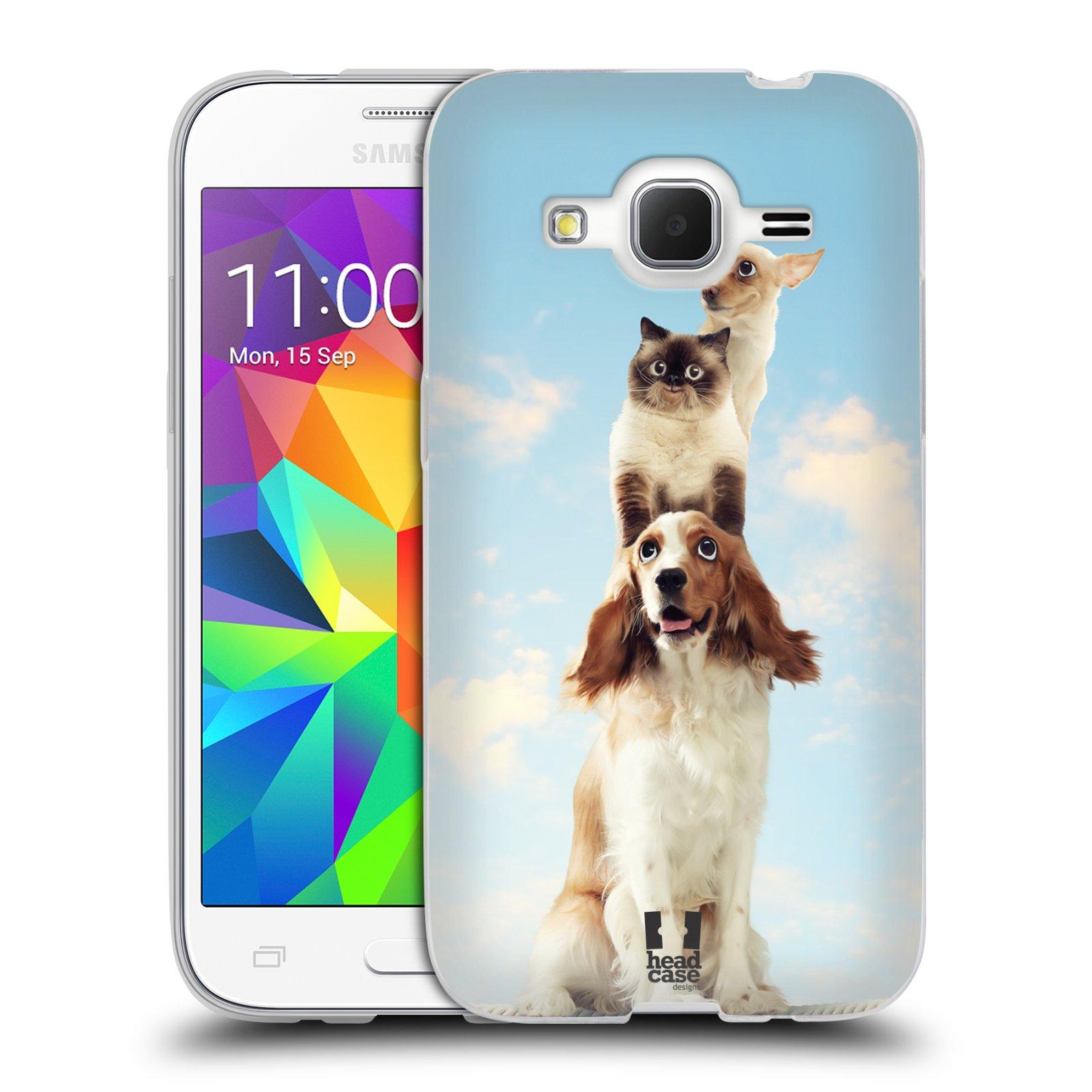 HEAD CASE silikonový obal na mobil Samsung Galaxy Core Prime (G360) vzor Legrační zvířátka zvířecí totem