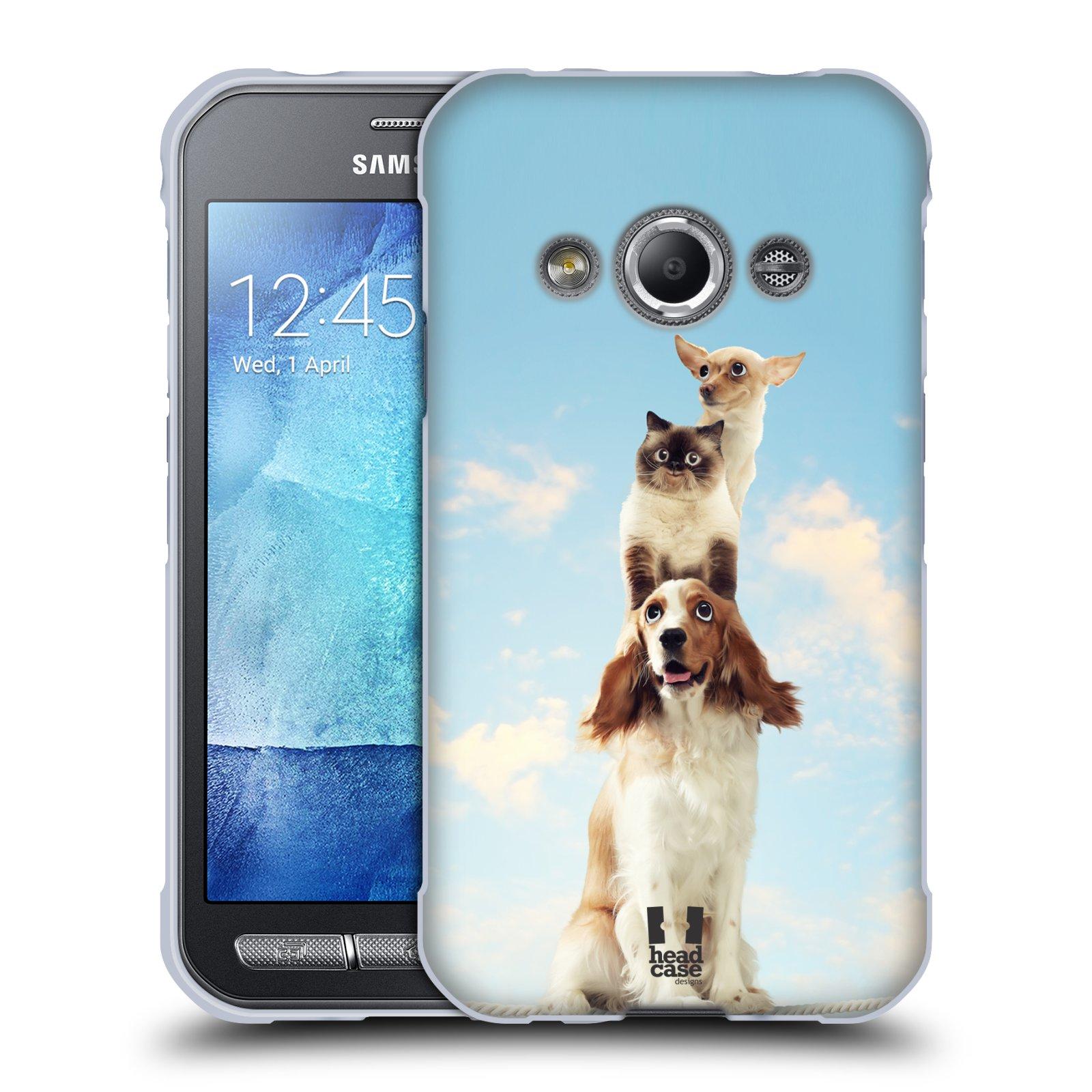 HEAD CASE silikonový obal na mobil Samsung Galaxy Xcover 3 vzor Legrační zvířátka zvířecí totem