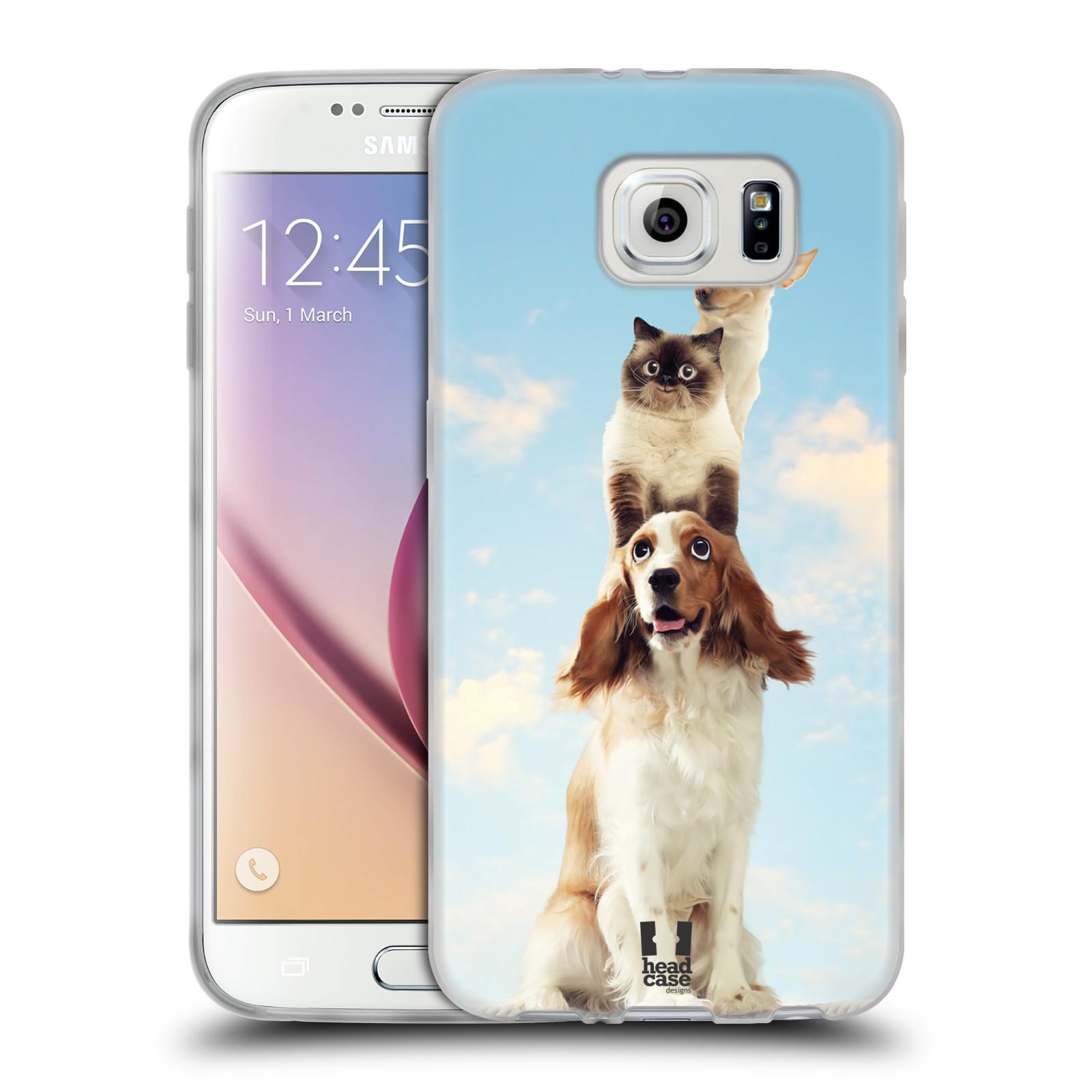 HEAD CASE silikonový obal na mobil Samsung Galaxy S6 vzor Legrační zvířátka zvířecí totem