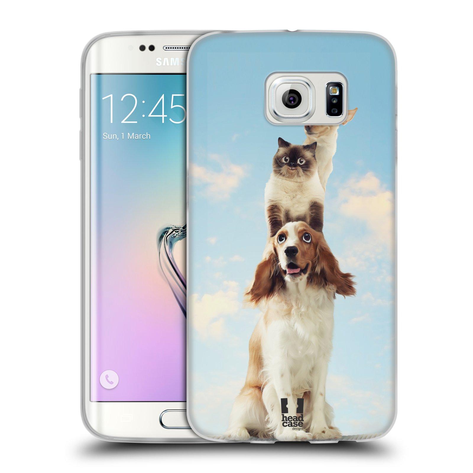 HEAD CASE silikonový obal na mobil Samsung Galaxy S6 EDGE vzor Legrační zvířátka zvířecí totem
