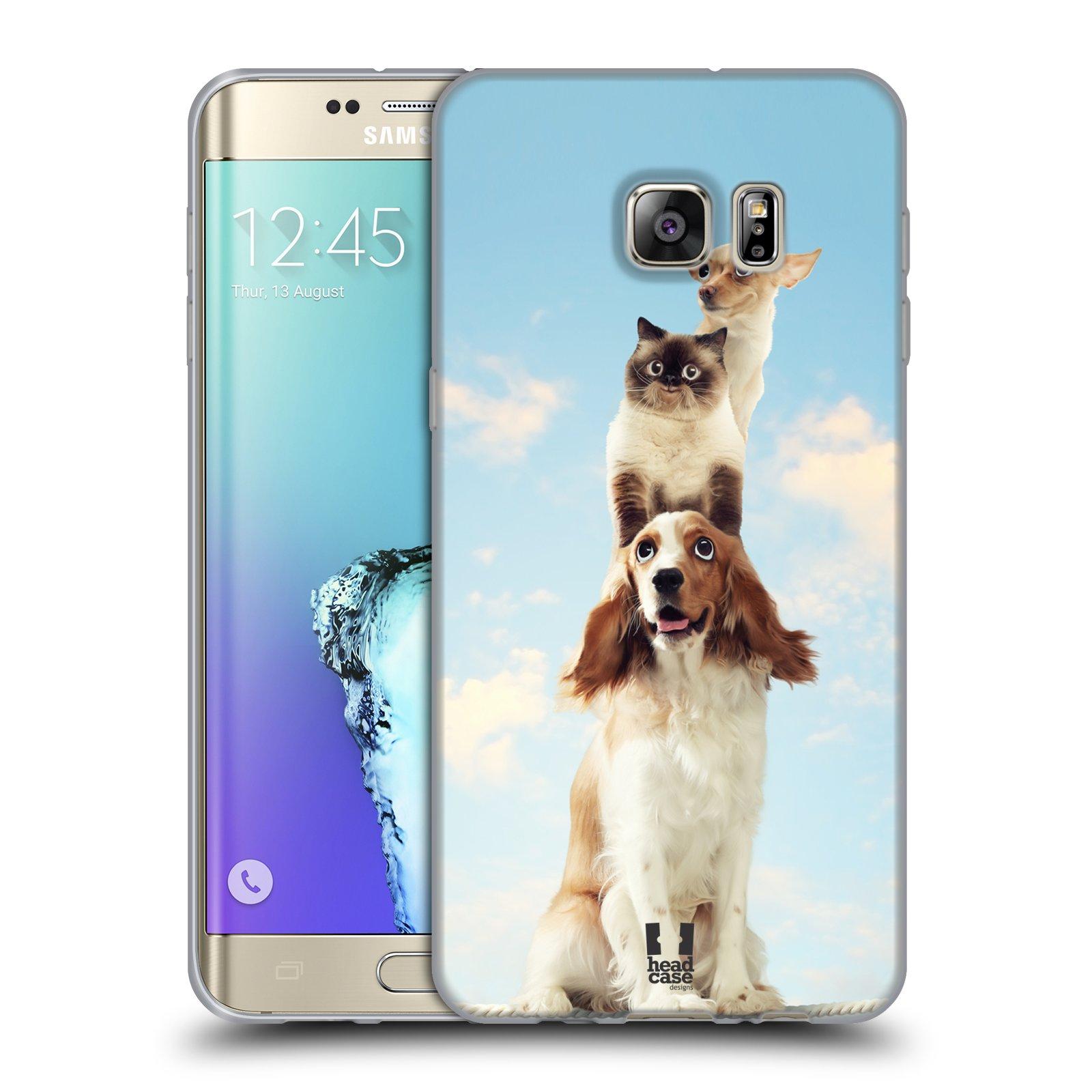 HEAD CASE silikonový obal na mobil Samsung Galaxy S6 EDGE PLUS vzor Legrační zvířátka zvířecí totem
