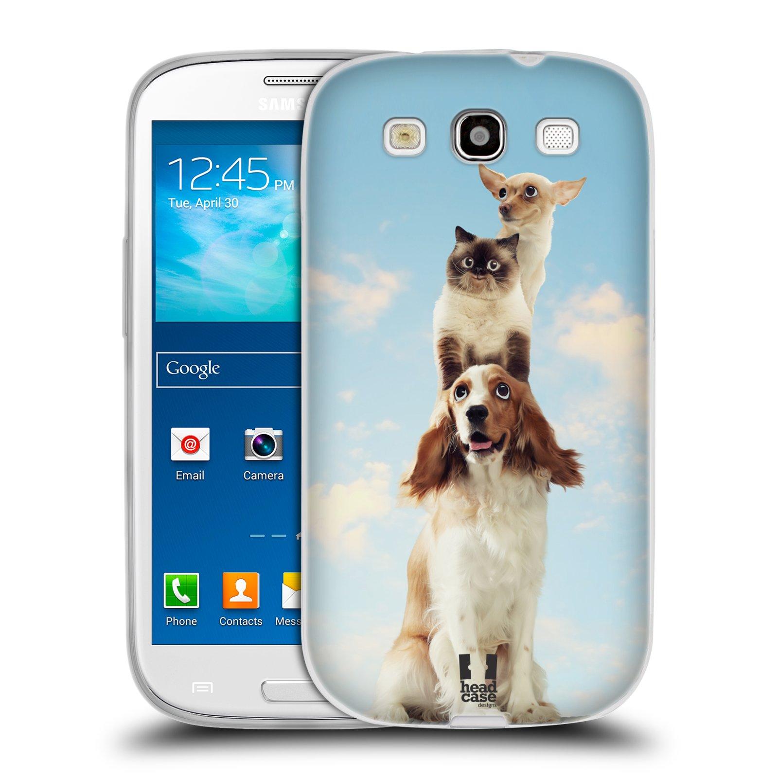 HEAD CASE silikonový obal na mobil Samsung Galaxy S3 i9300 vzor Legrační zvířátka zvířecí totem