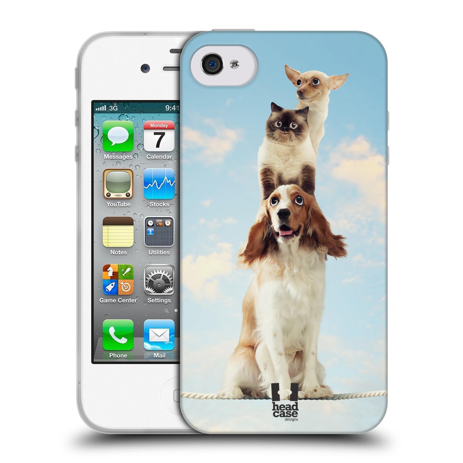 HEAD CASE silikonový obal na mobil Apple Iphone 4/4S vzor Legrační zvířátka zvířecí totem