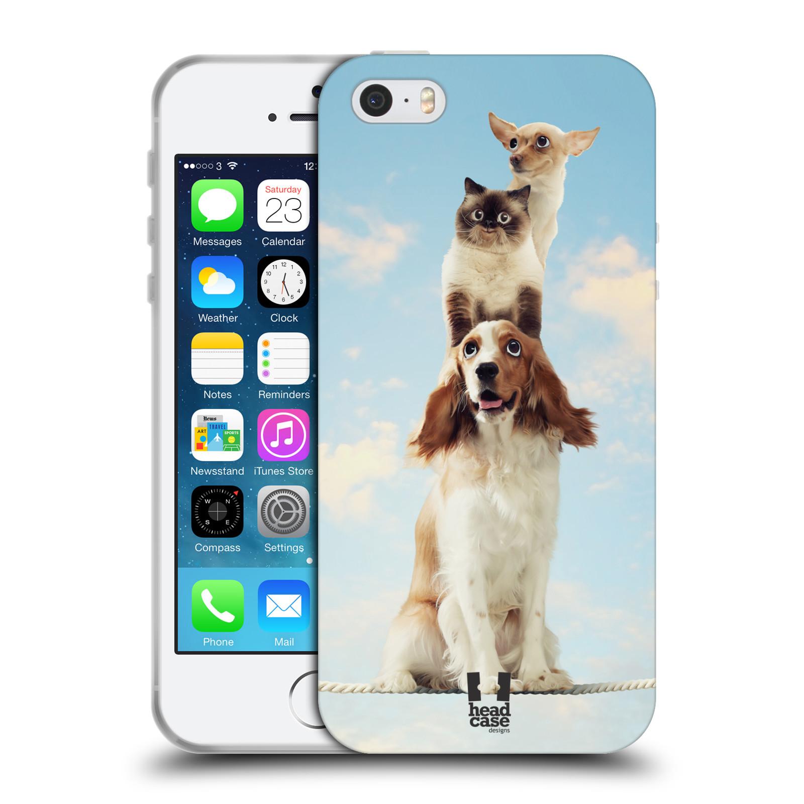 HEAD CASE silikonový obal na mobil Apple Iphone 5/5S vzor Legrační zvířátka zvířecí totem