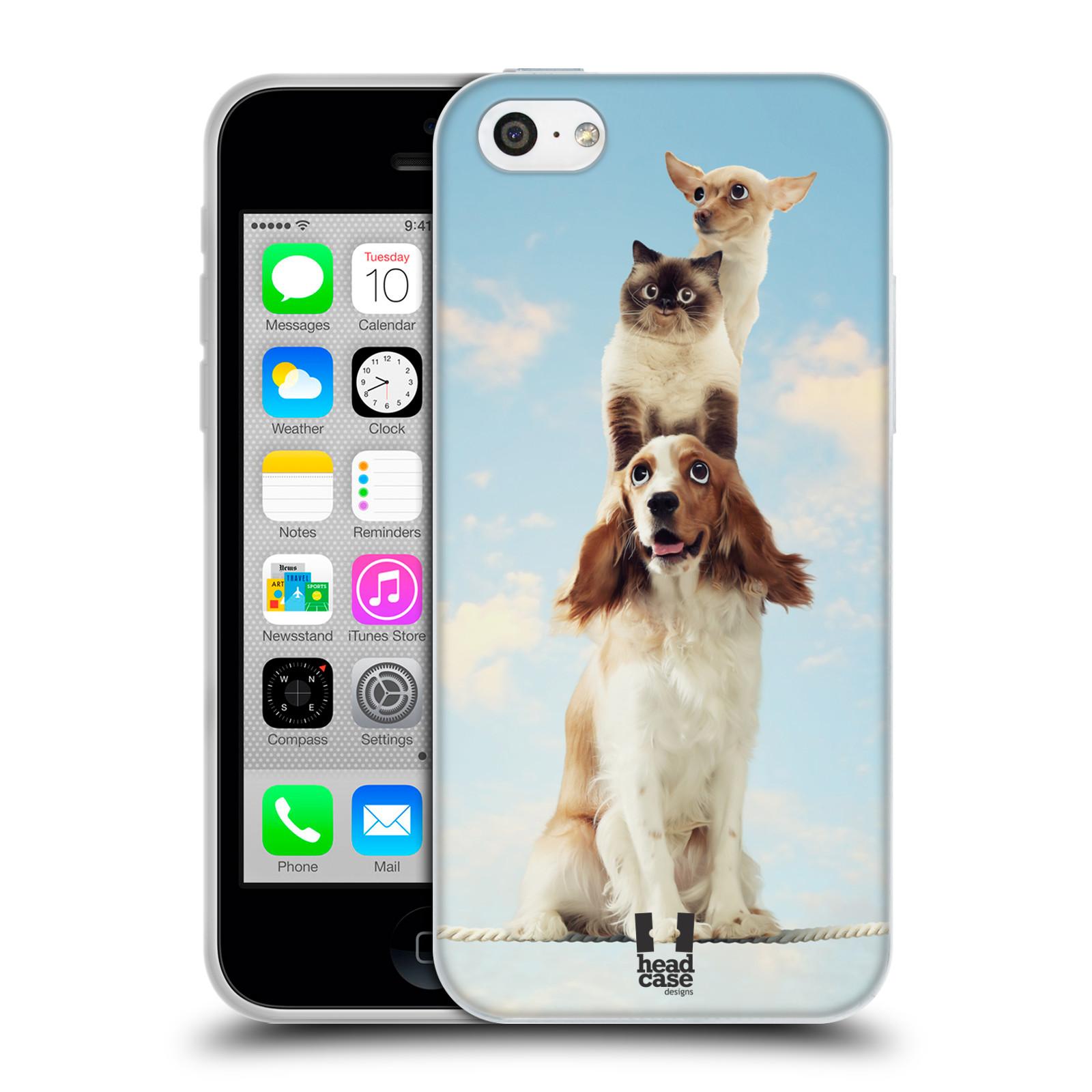 HEAD CASE silikonový obal na mobil Apple Iphone 5C vzor Legrační zvířátka zvířecí totem