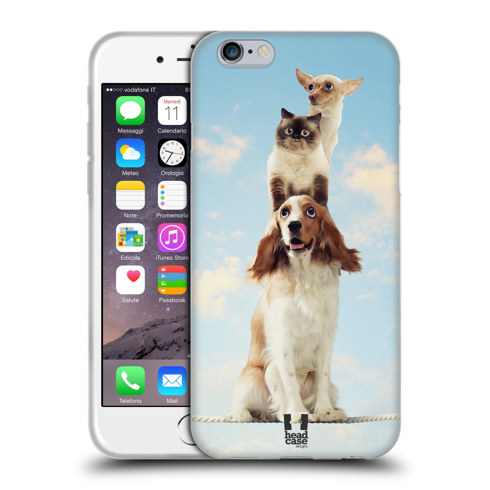 HEAD CASE silikonový obal na mobil Apple Iphone 6/6S vzor Legrační zvířátka zvířecí totem