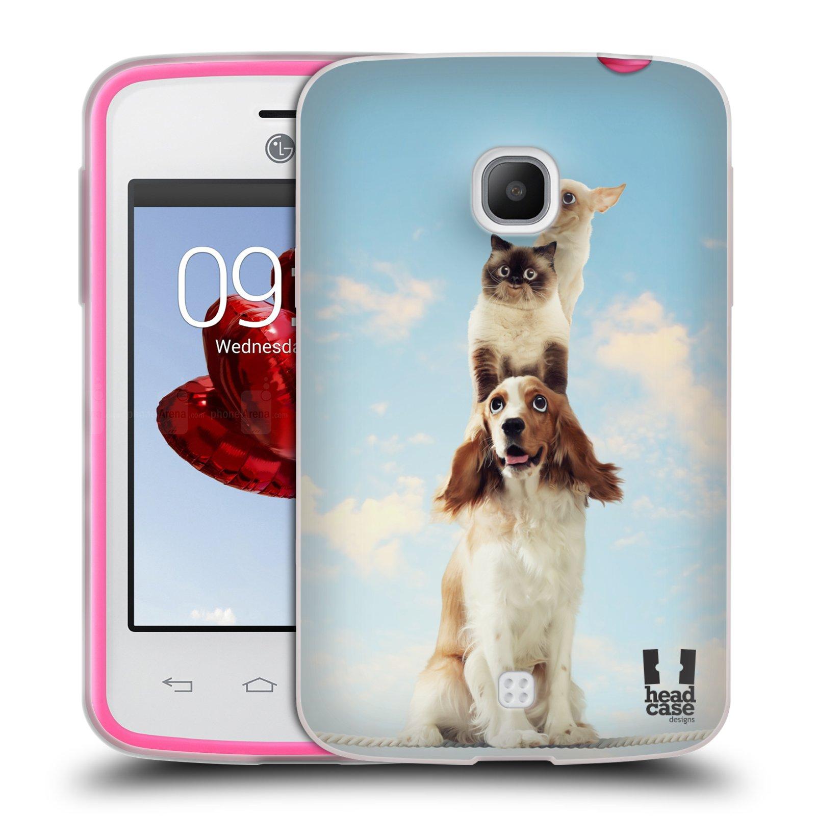HEAD CASE silikonový obal na mobil LG L30 vzor Legrační zvířátka zvířecí totem