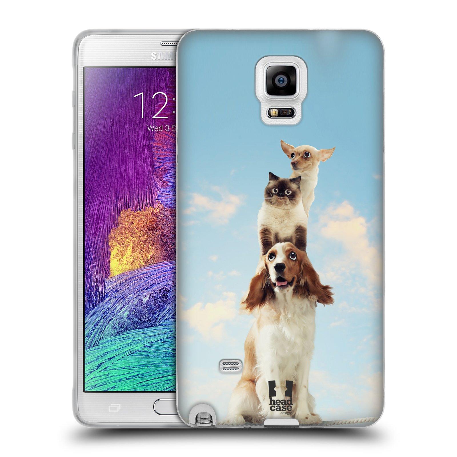 HEAD CASE silikonový obal na mobil Samsung Galaxy Note 4 (N910) vzor Legrační zvířátka zvířecí totem