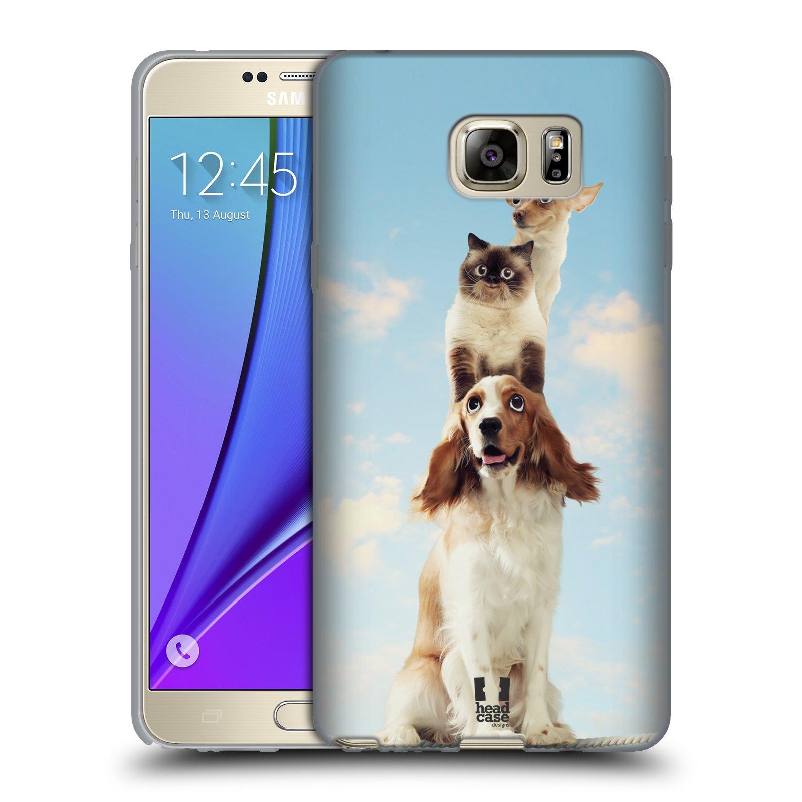 HEAD CASE silikonový obal na mobil Samsung Galaxy Note 5 (N920) vzor Legrační zvířátka zvířecí totem