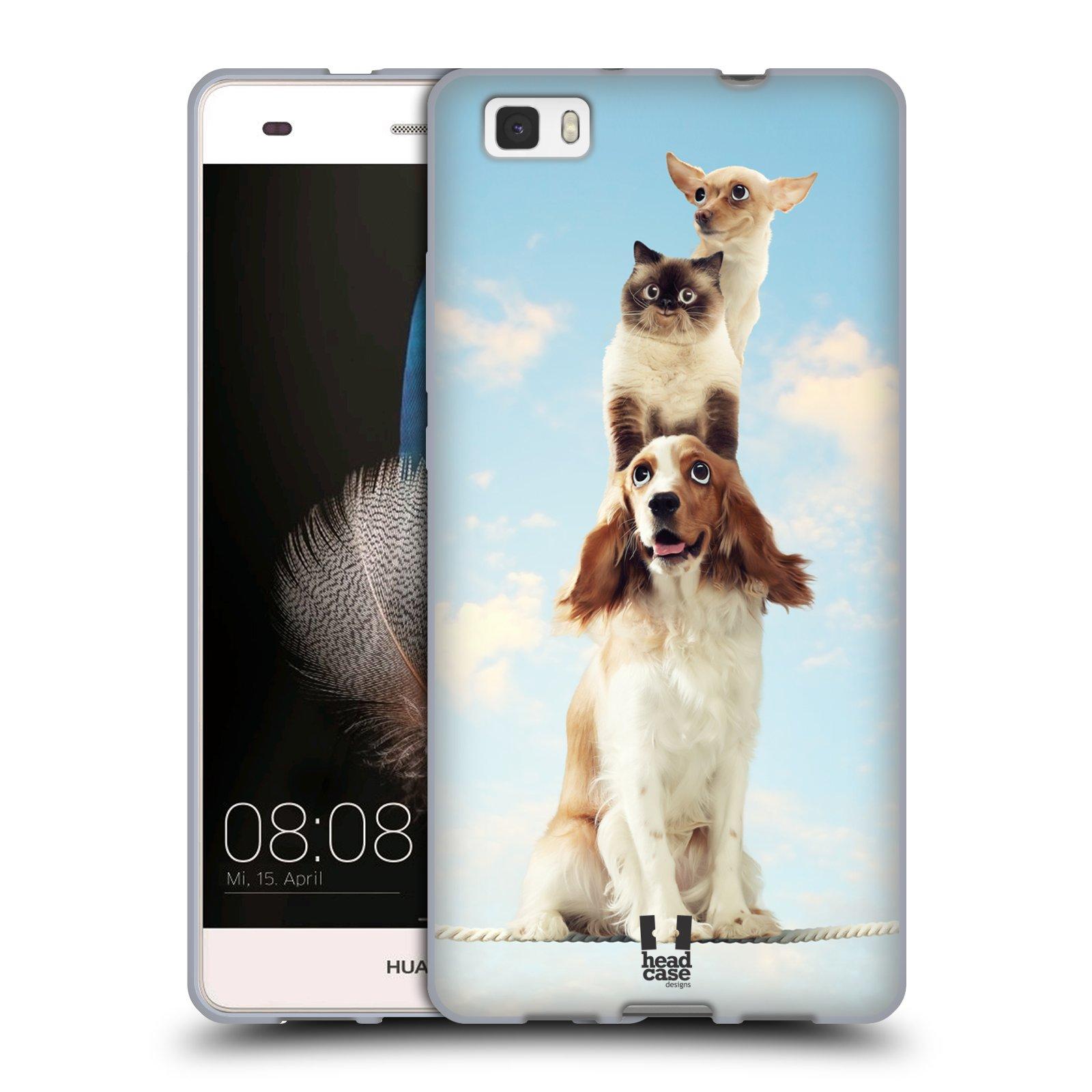 HEAD CASE silikonový obal na mobil Huawei  P8 LITE Legrační zvířátka Zvířecí totem