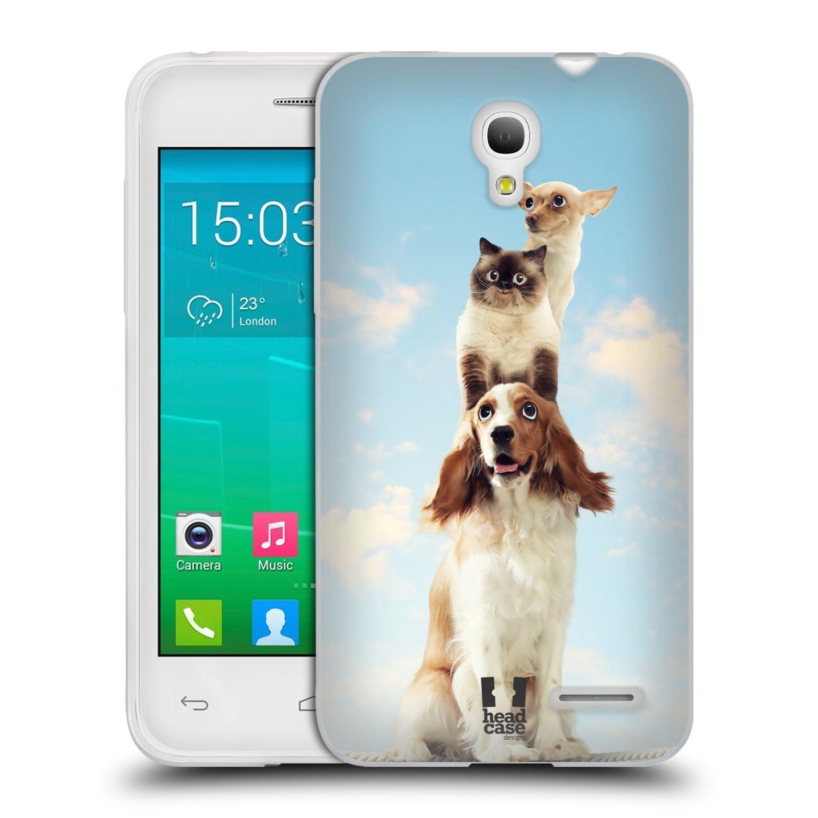HEAD CASE silikonový obal na mobil Alcatel POP S3 OT-5050Y vzor Legrační zvířátka zvířecí totem