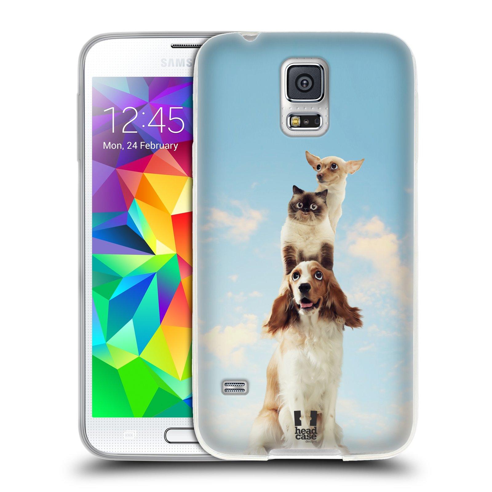 HEAD CASE silikonový obal na mobil Samsung Galaxy S5/S5 NEO vzor Legrační zvířátka zvířecí totem