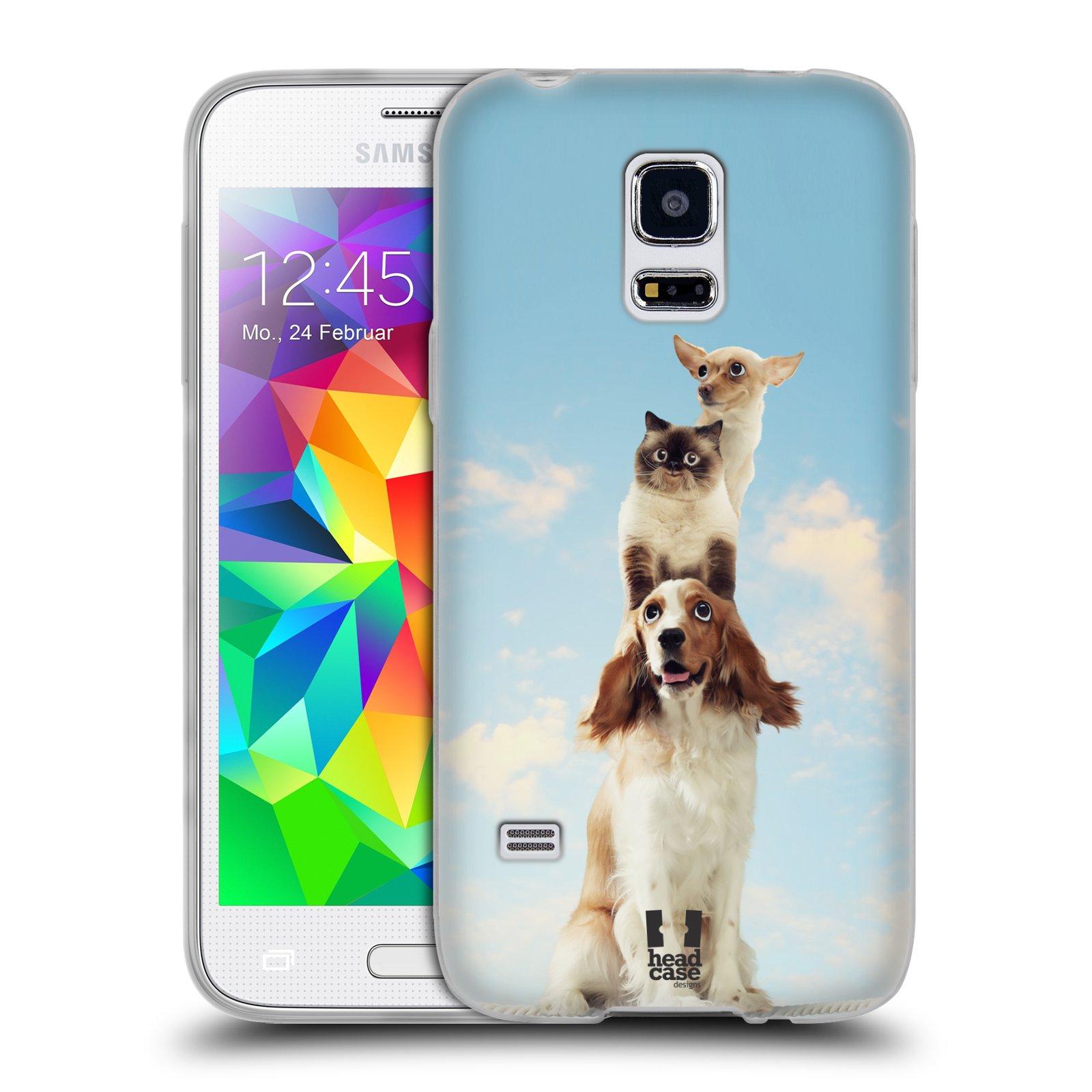 HEAD CASE silikonový obal na mobil Samsung Galaxy S5 MINI vzor Legrační zvířátka zvířecí totem