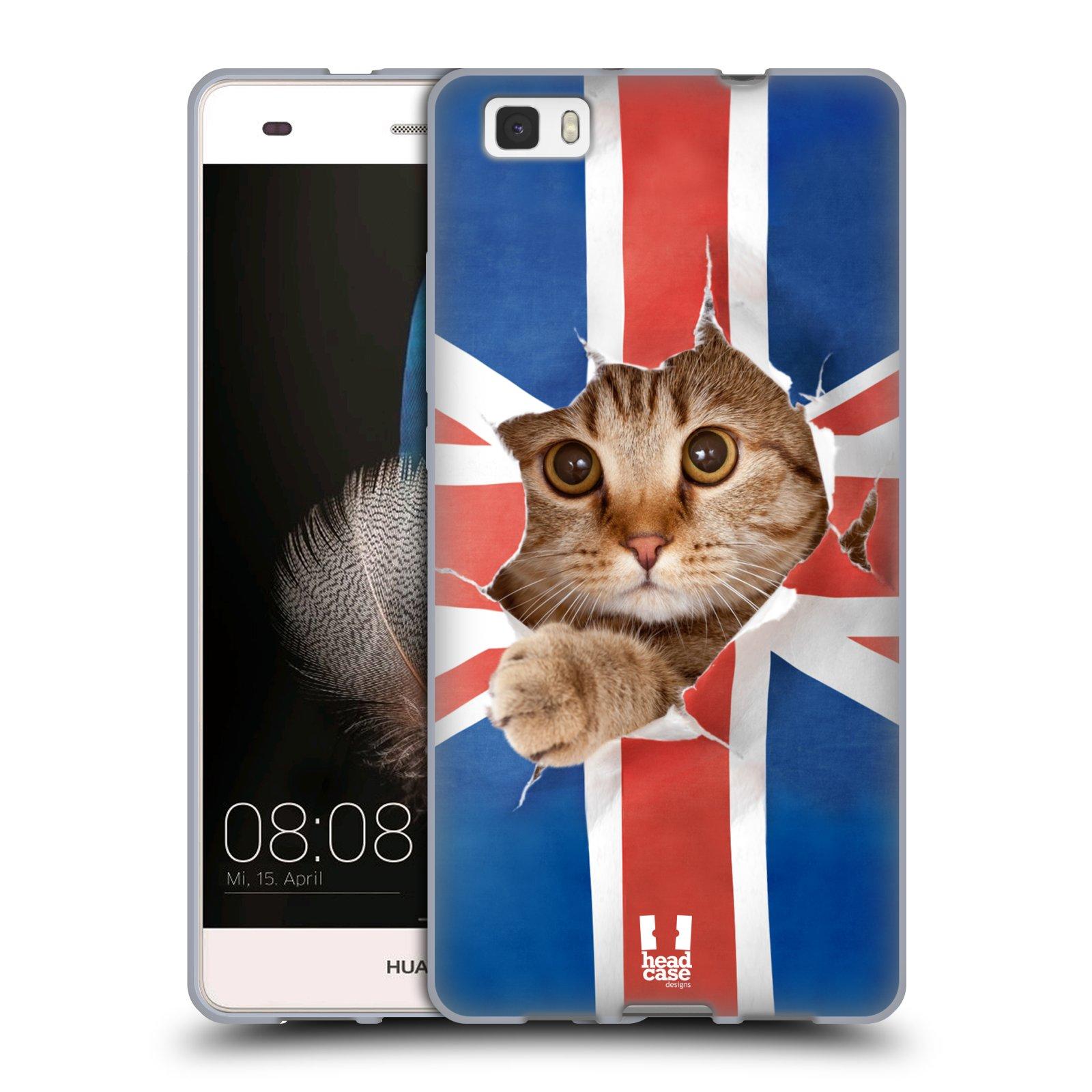 HEAD CASE silikonový obal na mobil Huawei  P8 LITE Legrační zvířátka Britská kočička