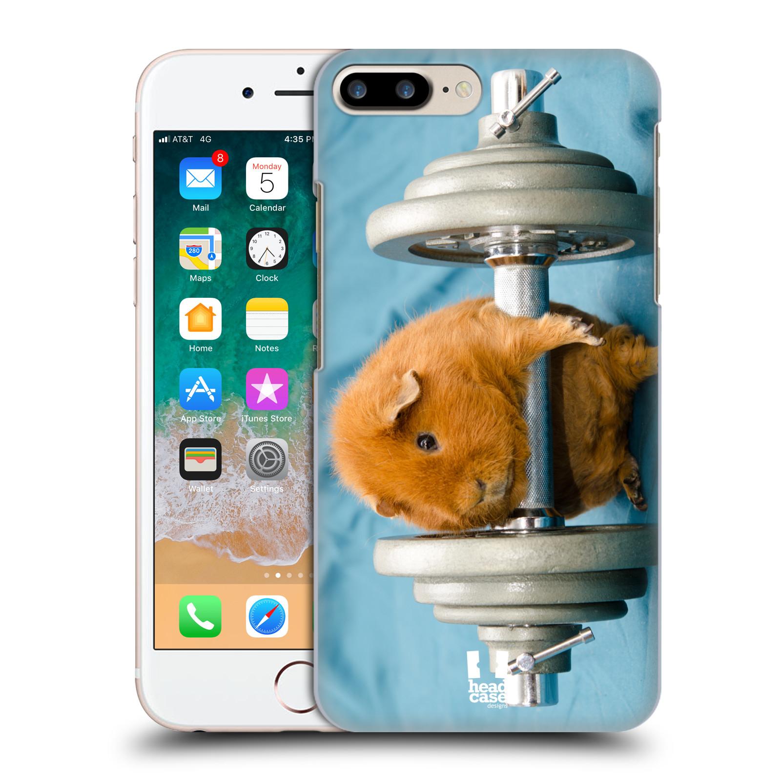 HEAD CASE plastový obal na mobil Apple Iphone 7 PLUS vzor Legrační zvířátka křeček/morče silák