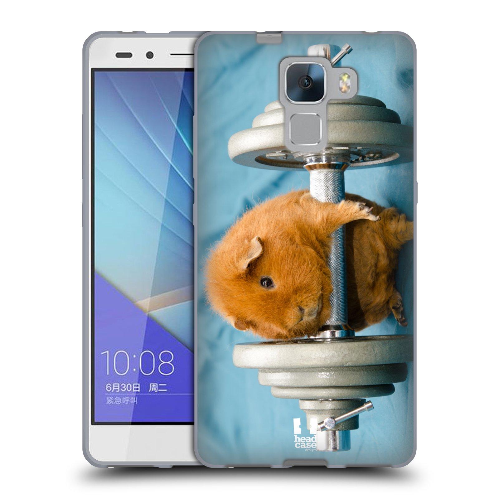 HEAD CASE silikonový obal na mobil Huawei  Honor 7 Legrační zvířátka Křeček silák