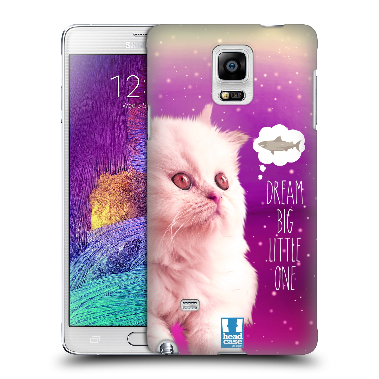 HEAD CASE DESIGNS REALISTIC CATS IN SPACE CASE COVER FOR SAMSUNG GALAXY NOTE 4