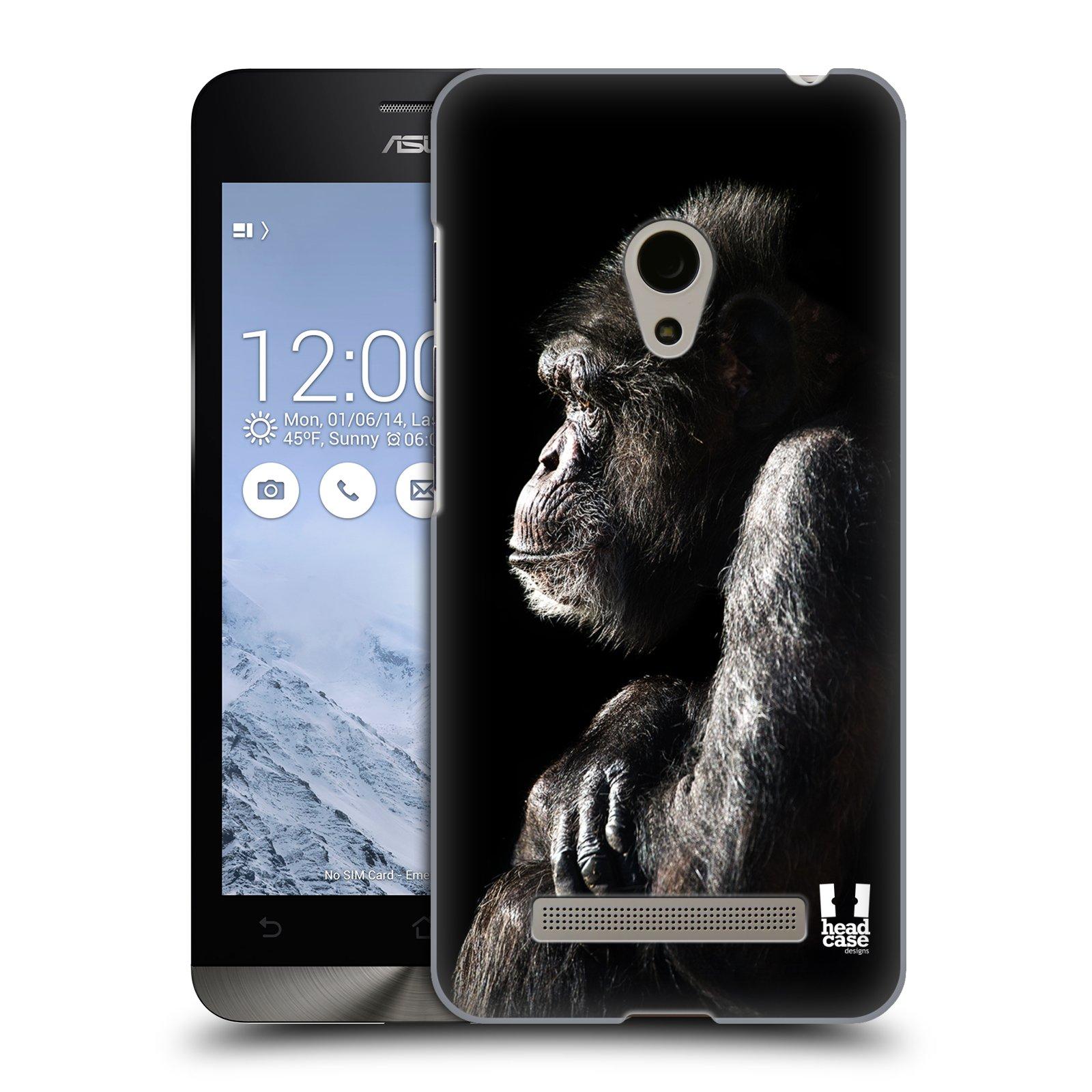 HEAD CASE plastový obal na mobil Asus Zenfone 5 vzor Divočina, Divoký život a zvířata foto ŠIMPANZ