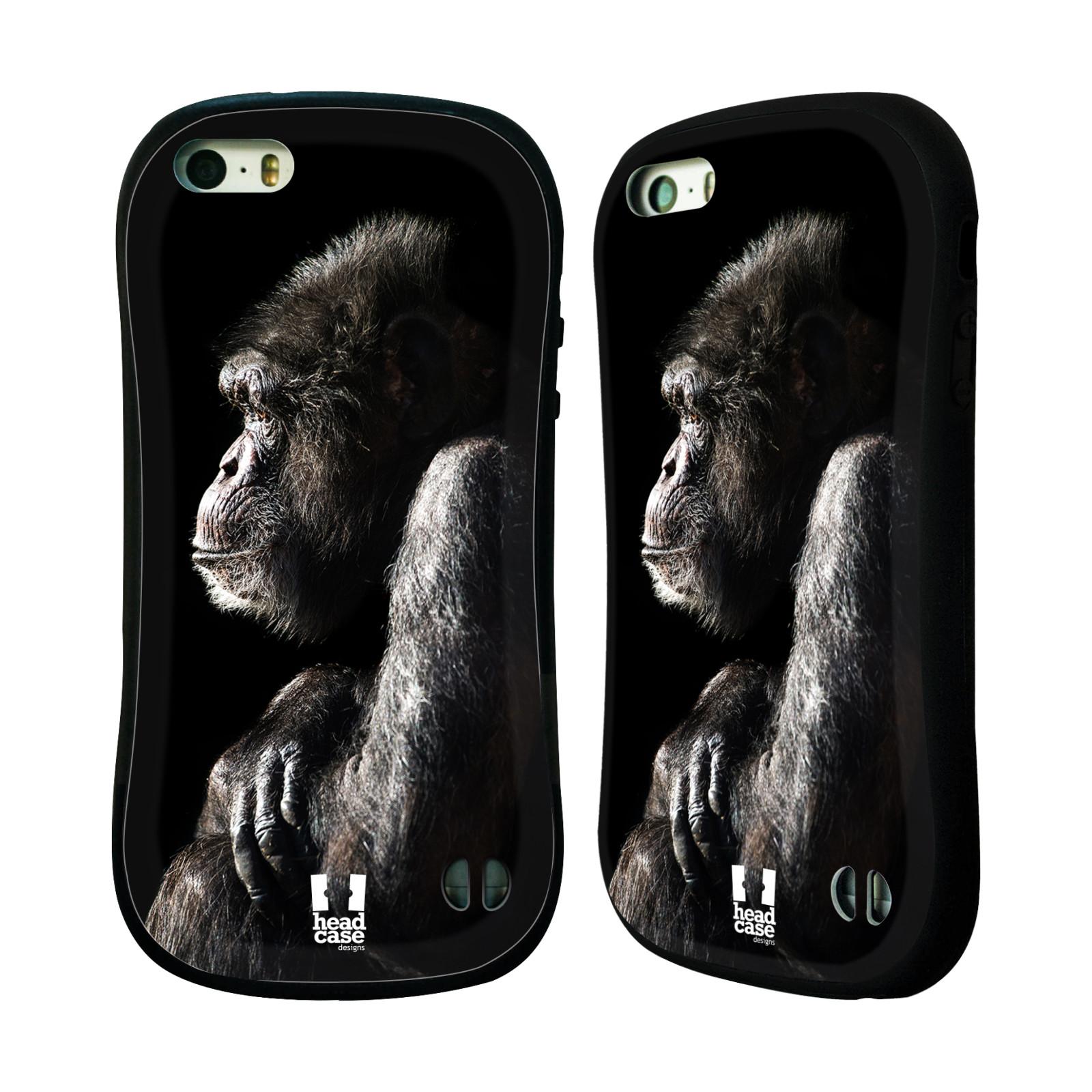 HEAD CASE silikon/plast odolný obal na mobil Apple Iphone 5/5S vzor Divočina, Divoký život a zvířata foto ŠIMPANZ