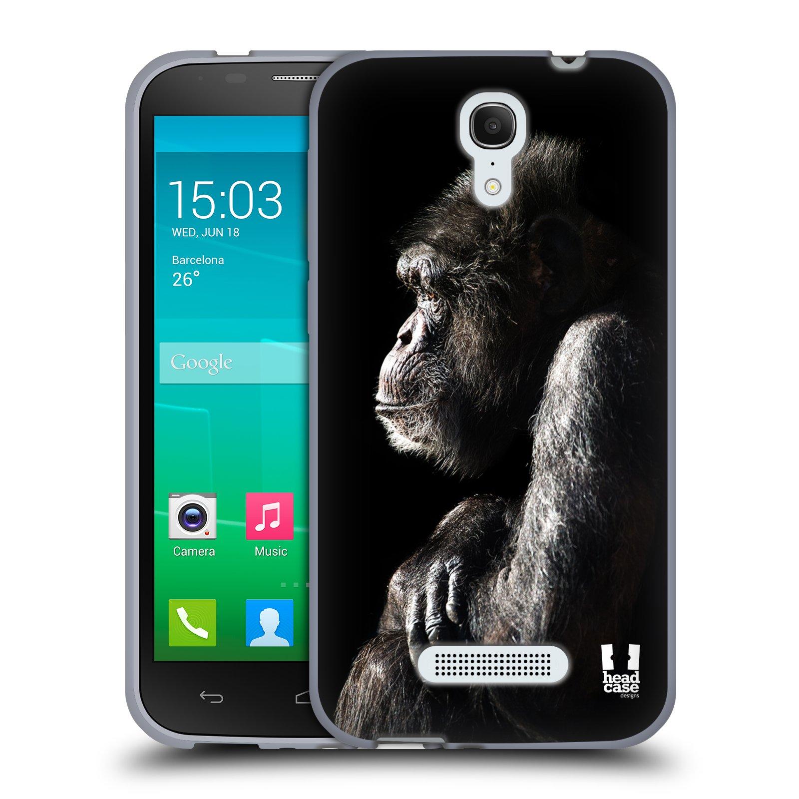 HEAD CASE silikonový obal na mobil Alcatel POP S7 vzor Divočina, Divoký život a zvířata foto ŠIMPANZ