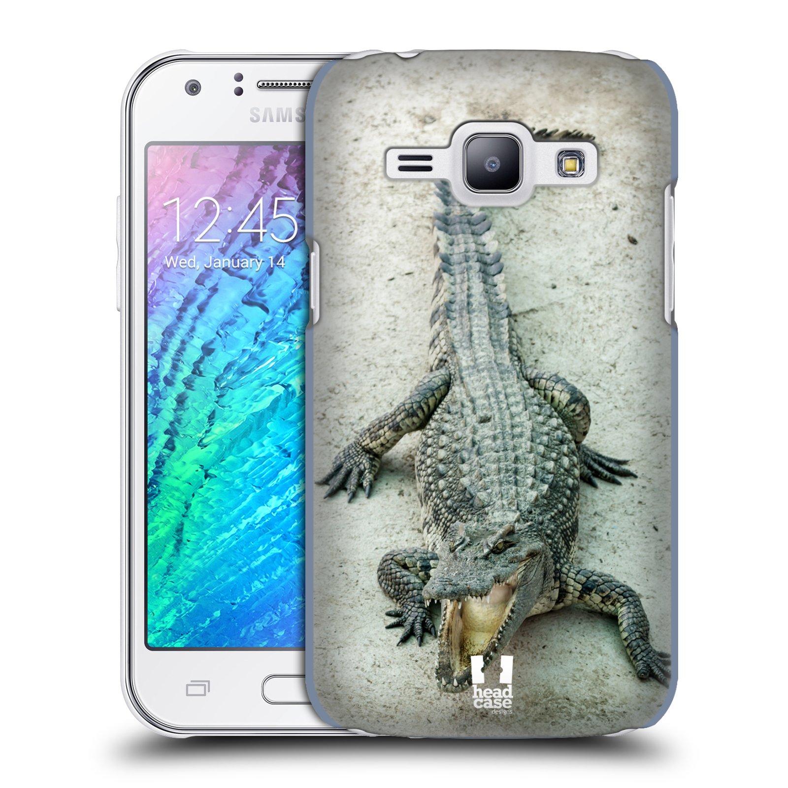 HEAD CASE plastový obal na mobil SAMSUNG Galaxy J1, J100 vzor Divočina, Divoký život a zvířata foto KROKODÝL, KAJMAN