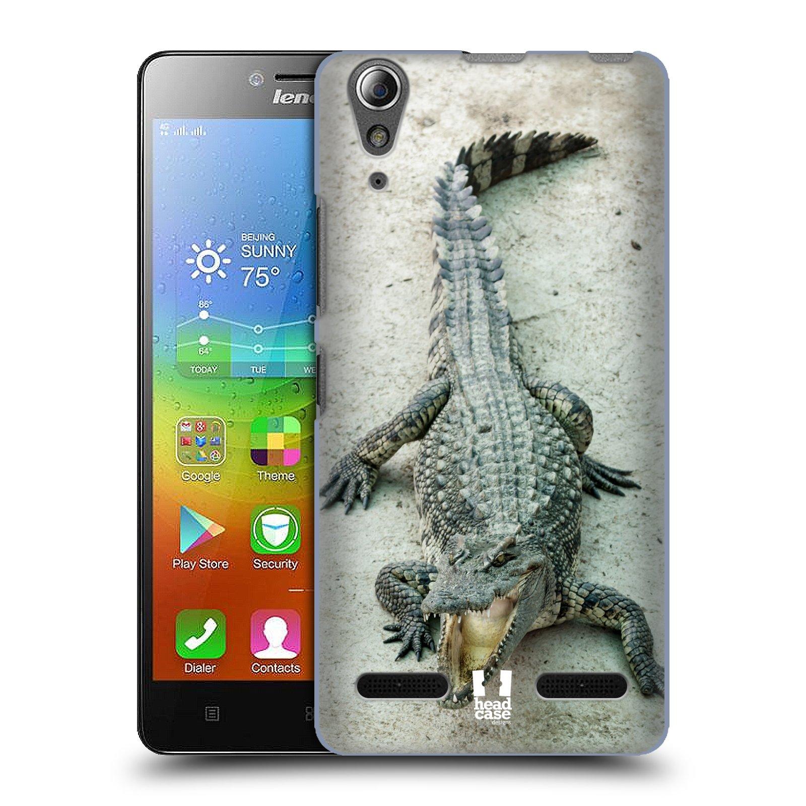 HEAD CASE pevný plastový obal na mobil LENOVO A6000 / A6000 PLUS vzor Divočina, Divoký život a zvířata foto KROKODÝL, KAJMAN