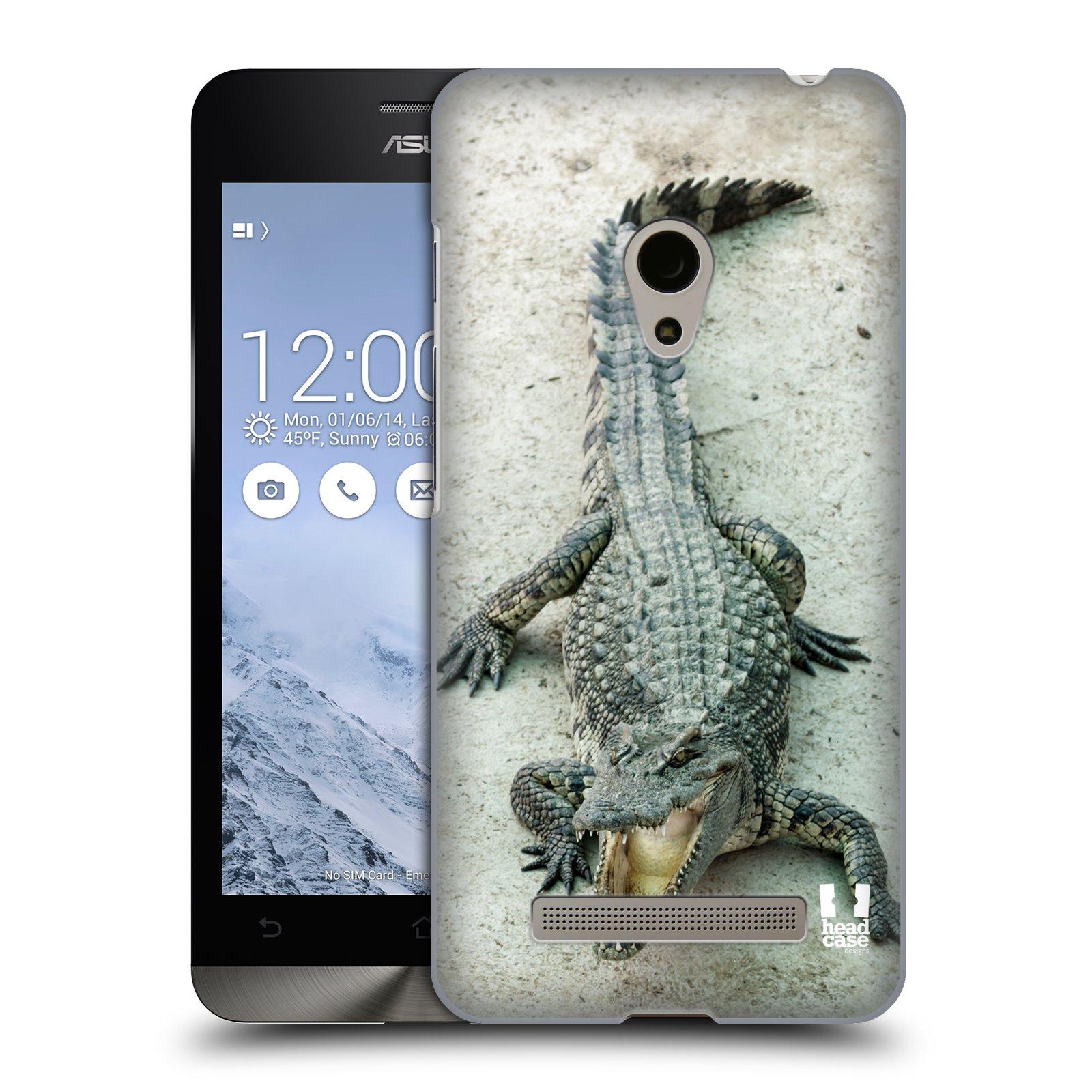 HEAD CASE plastový obal na mobil Asus Zenfone 5 vzor Divočina, Divoký život a zvířata foto KROKODÝL, KAJMAN