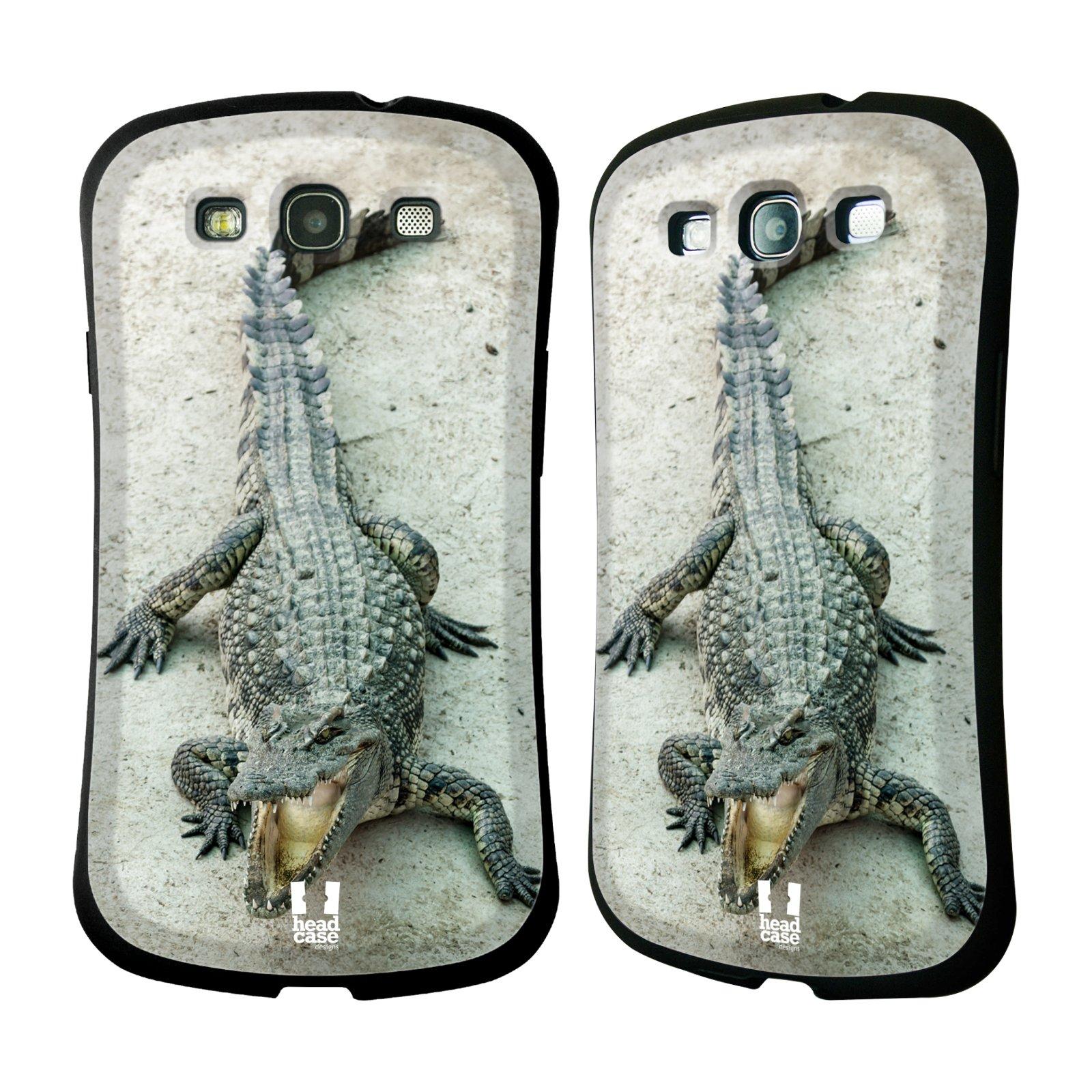 HEAD CASE silikon/plast odolný obal na mobil Samsung Galaxy S3 vzor Divočina, Divoký život a zvířata foto KROKODÝL, KAJMAN
