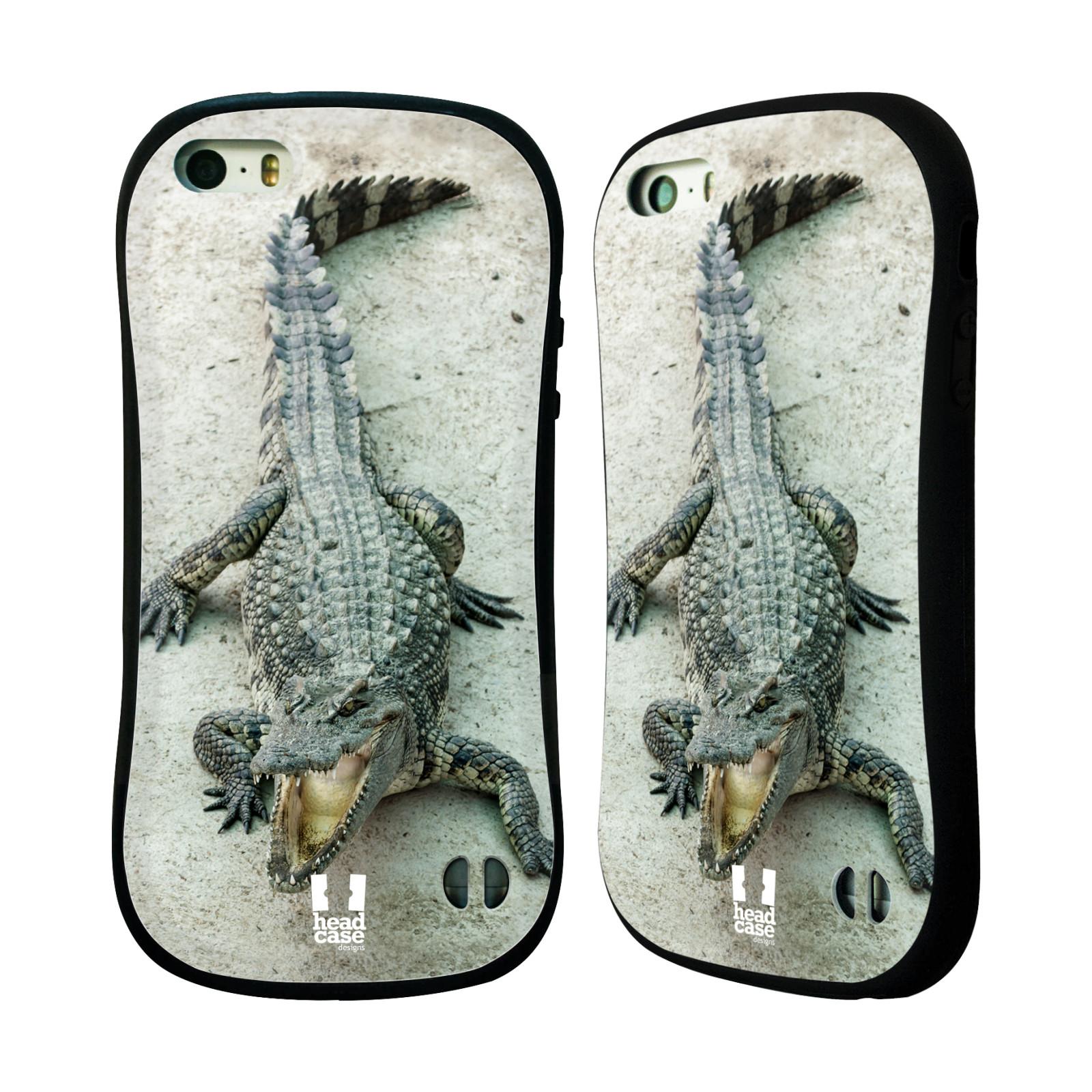HEAD CASE silikon/plast odolný obal na mobil Apple Iphone 5/5S vzor Divočina, Divoký život a zvířata foto KROKODÝL, KAJMAN