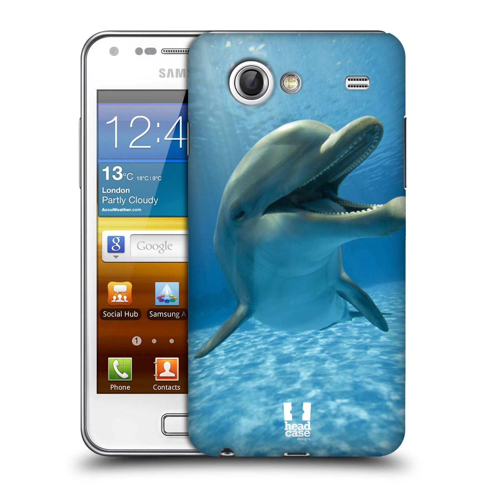 Plastové pouzdro na mobil Samsung Galaxy S Advance HEAD CASE DIVOČINA – DELFÍN (Kryt či obal na mobilní telefon Samsung Galaxy S Advance GT-i9070)