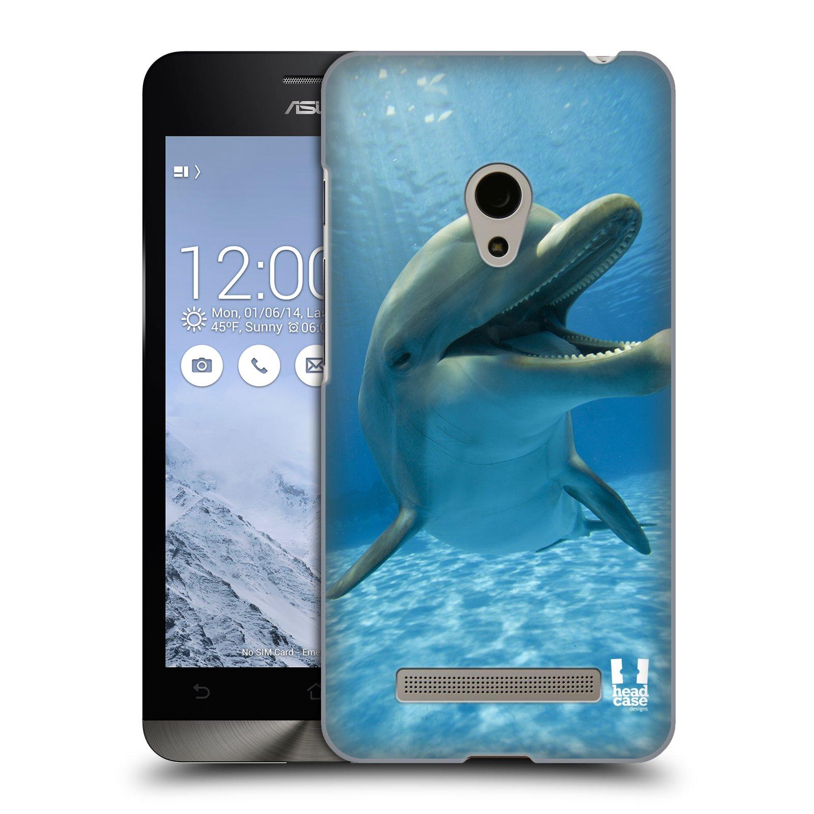 HEAD CASE plastový obal na mobil Asus Zenfone 5 vzor Divočina, Divoký život a zvířata foto MODRÁ DELFÍN