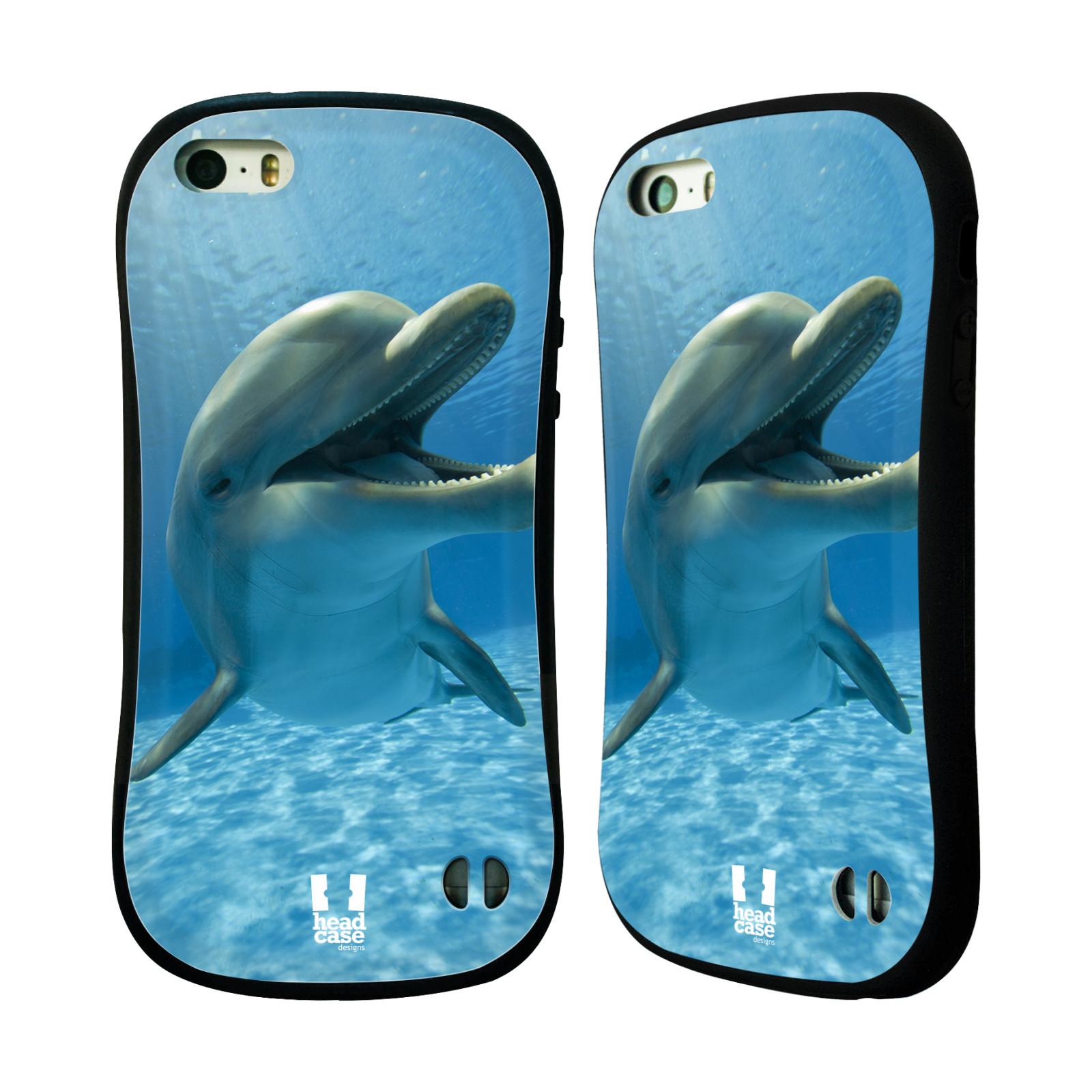 HEAD CASE silikon/plast odolný obal na mobil Apple Iphone 5/5S vzor Divočina, Divoký život a zvířata foto MODRÁ DELFÍN