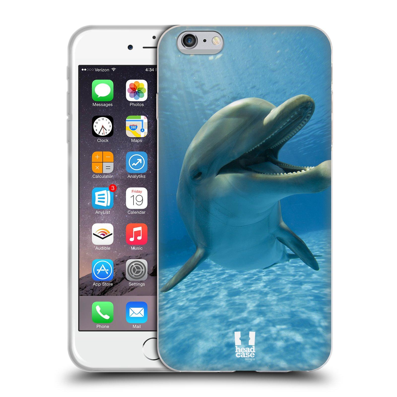 HEAD CASE silikonový obal na mobil Apple Iphone 6 PLUS/ 6S PLUS vzor Divočina, Divoký život a zvířata foto MODRÁ DELFÍN