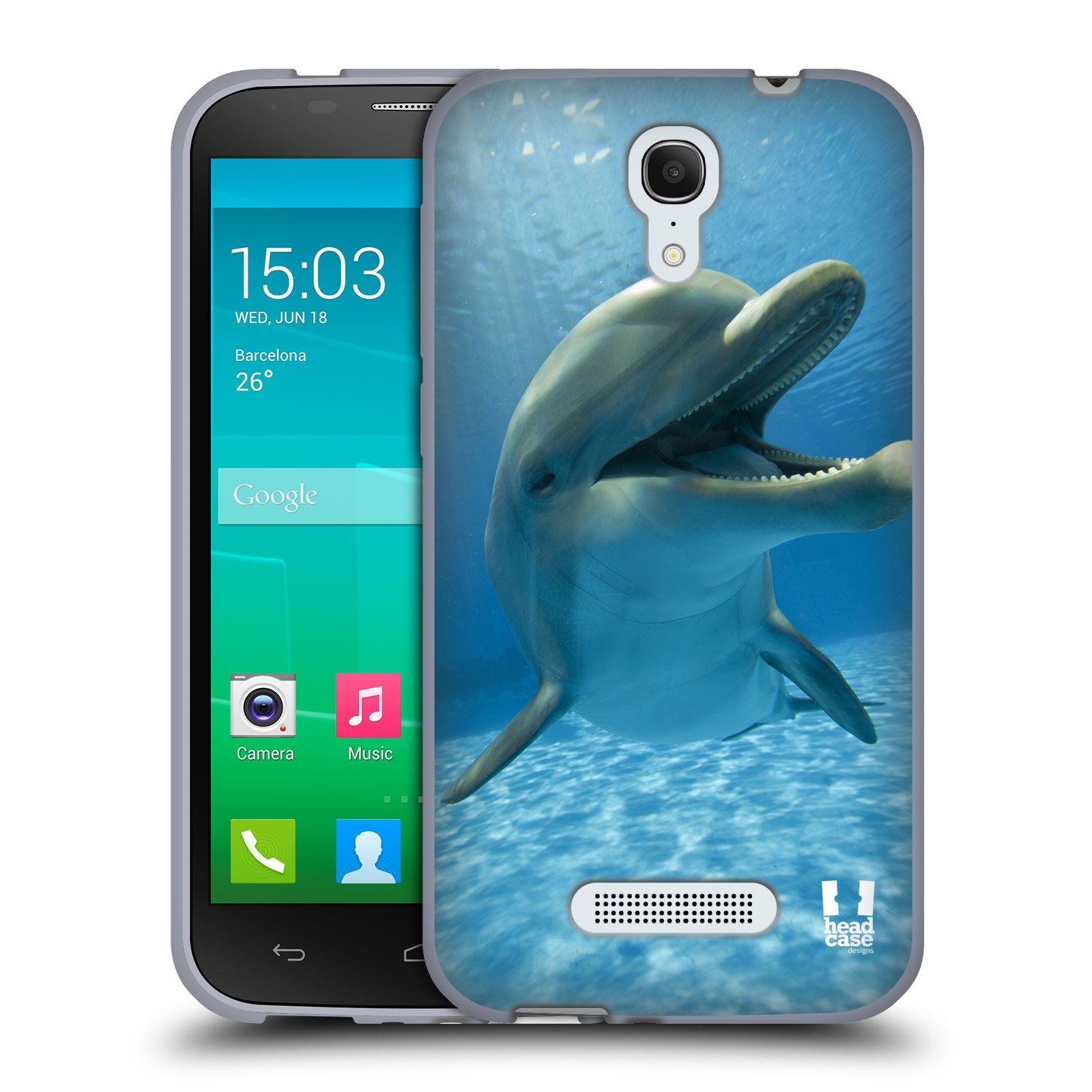 HEAD CASE silikonový obal na mobil Alcatel POP S7 vzor Divočina, Divoký život a zvířata foto MODRÁ DELFÍN