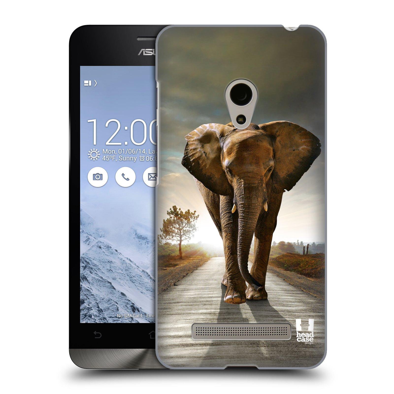 HEAD CASE plastový obal na mobil Asus Zenfone 5 vzor Divočina, Divoký život a zvířata foto AFRIKA KRÁČEJÍCI SLON