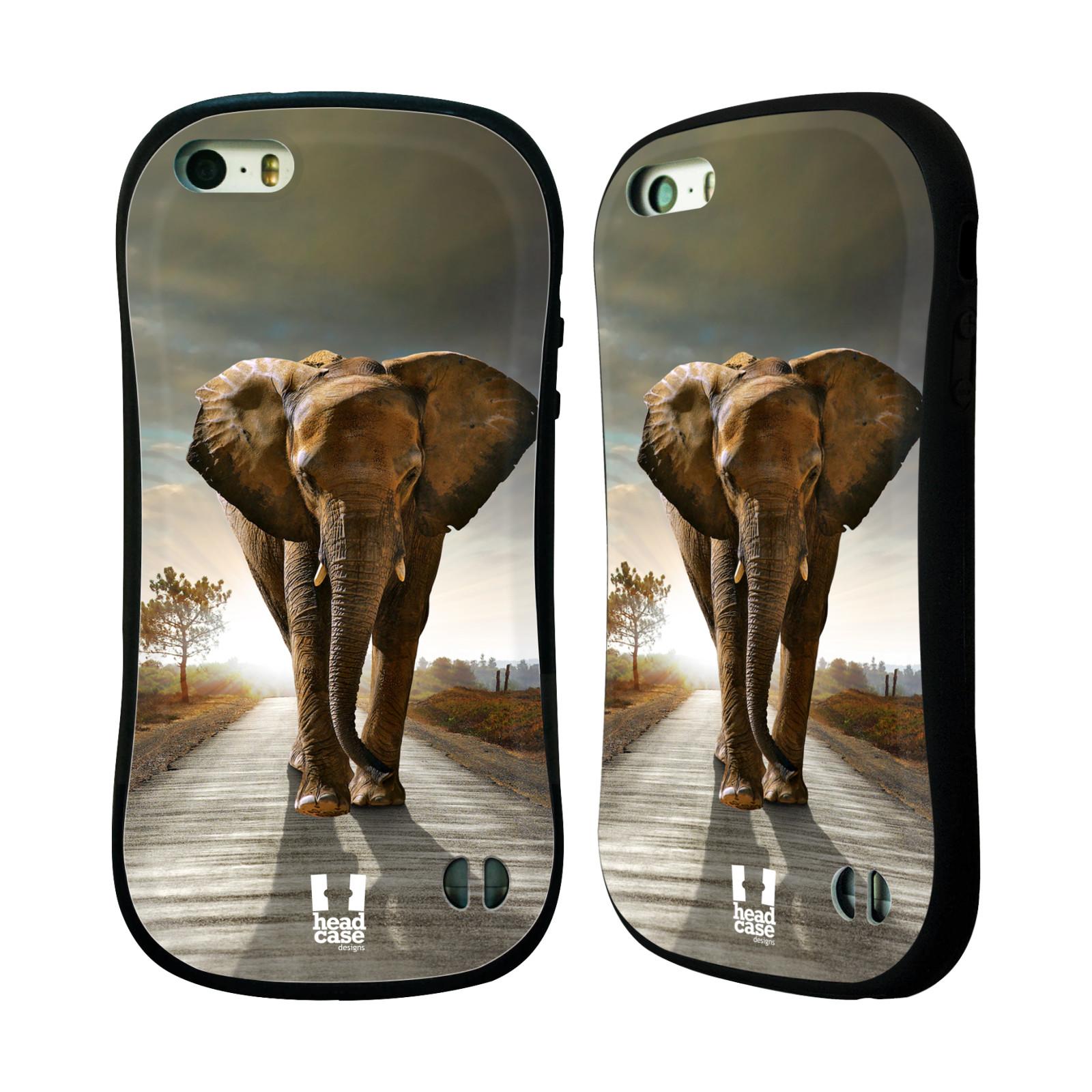 HEAD CASE silikon/plast odolný obal na mobil Apple Iphone 5/5S vzor Divočina, Divoký život a zvířata foto AFRIKA KRÁČEJÍCI SLON