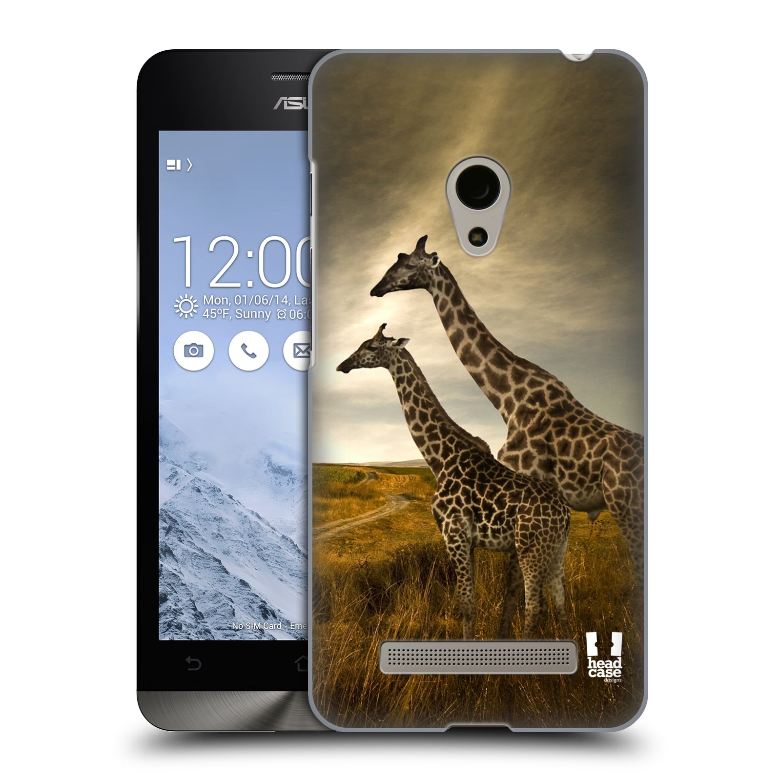 HEAD CASE plastový obal na mobil Asus Zenfone 5 vzor Divočina, Divoký život a zvířata foto AFRIKA ŽIRAFY VÝHLED