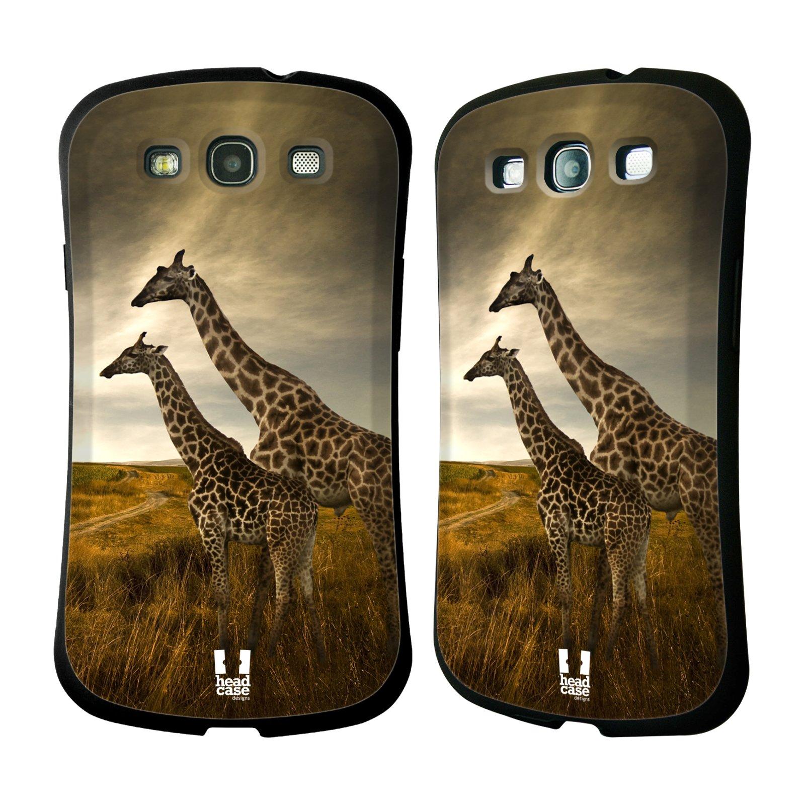 HEAD CASE silikon/plast odolný obal na mobil Samsung Galaxy S3 vzor Divočina, Divoký život a zvířata foto AFRIKA ŽIRAFY VÝHLED