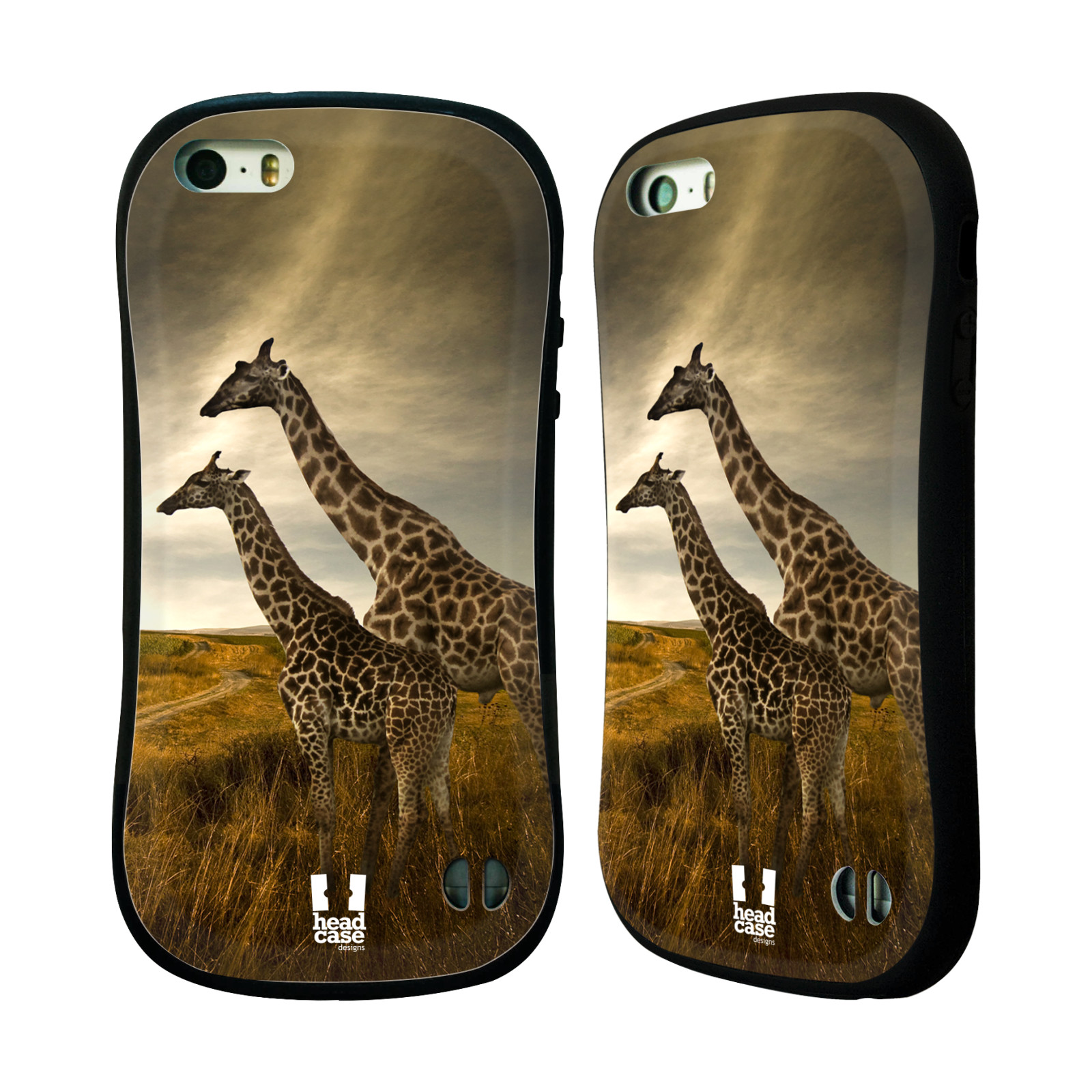 HEAD CASE silikon/plast odolný obal na mobil Apple Iphone 5/5S vzor Divočina, Divoký život a zvířata foto AFRIKA ŽIRAFY VÝHLED