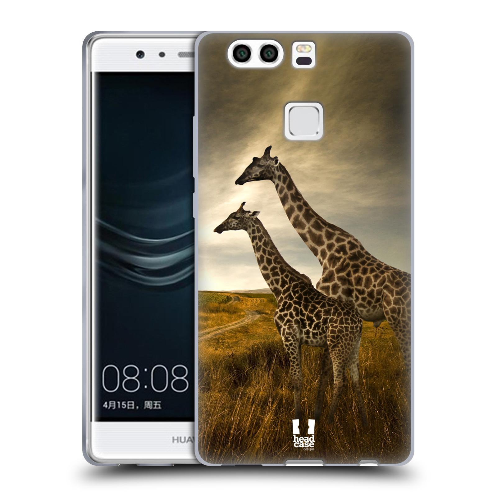 HEAD CASE silikonový obal na mobil Huawei P9 PLUS/ P9+ DUAL SIM vzor Divočina, Divoký život a zvířata foto AFRIKA ŽIRAFY VÝHLED