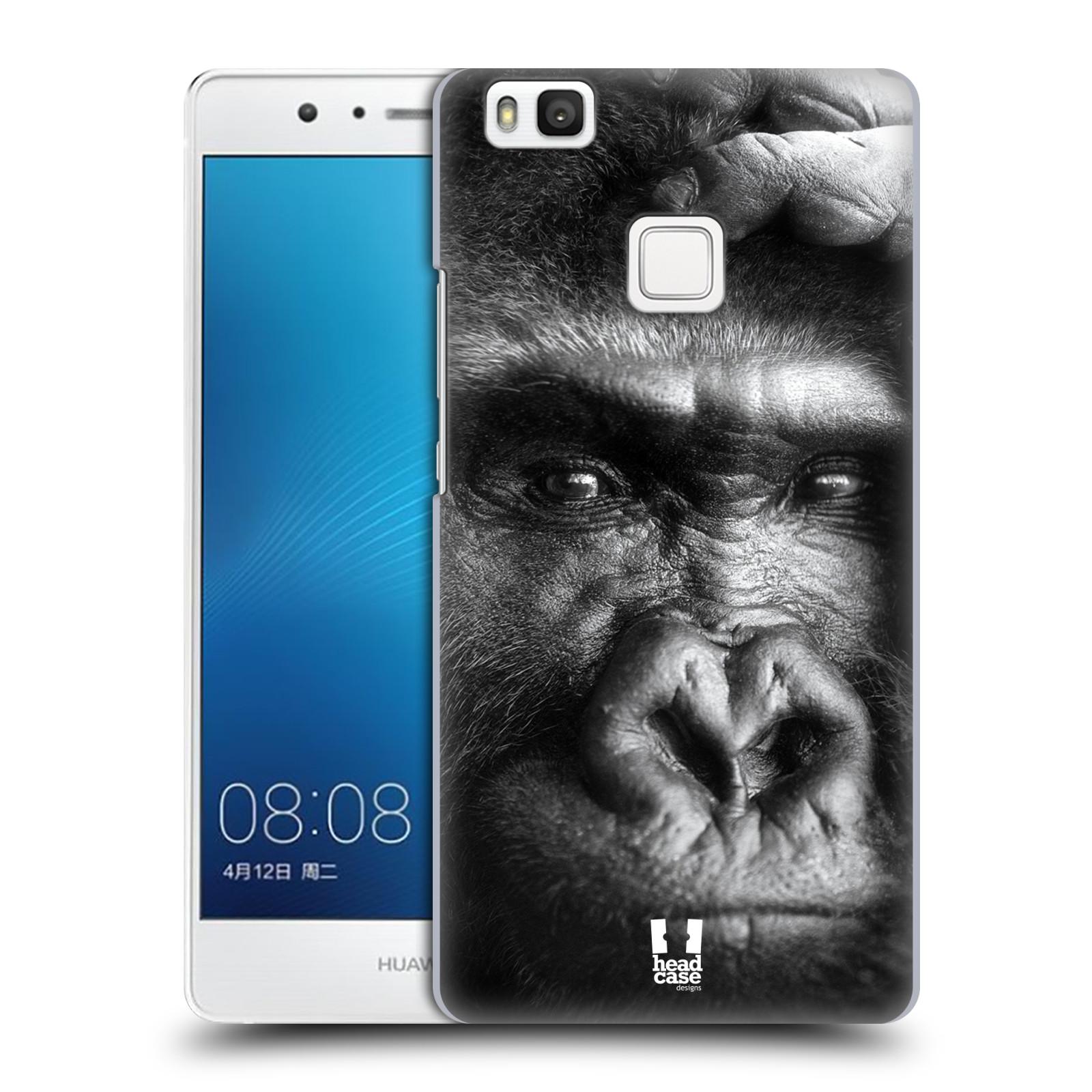 HEAD CASE plastový obal na mobil Huawei P9 LITE / P9 LITE DUAL SIM vzor Divočina, Divoký život a zvířata foto GORILA TVÁŘ