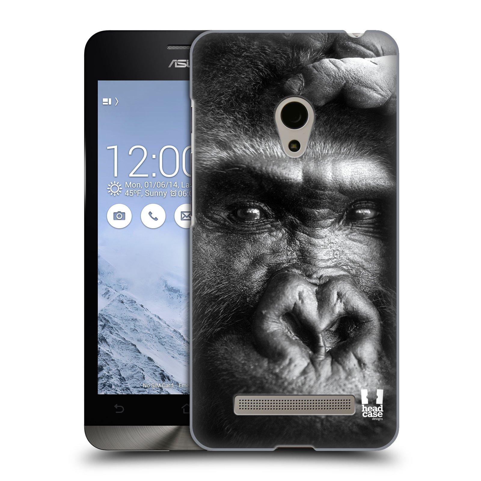 HEAD CASE plastový obal na mobil Asus Zenfone 5 vzor Divočina, Divoký život a zvířata foto GORILA TVÁŘ