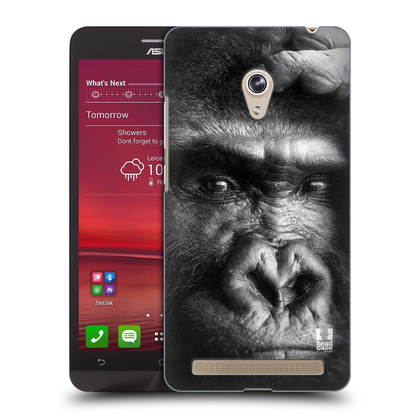 HEAD CASE plastový obal na mobil Asus Zenfone 6 vzor Divočina, Divoký život a zvířata foto GORILA TVÁŘ